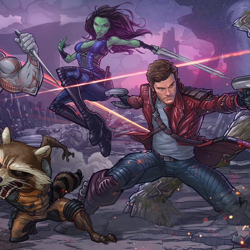 Star Lord And Rocket Raccoon By Timothygreenii On Deviantart: Download Wallpaper Raccoon, Art, Marvel Comics, Patrick