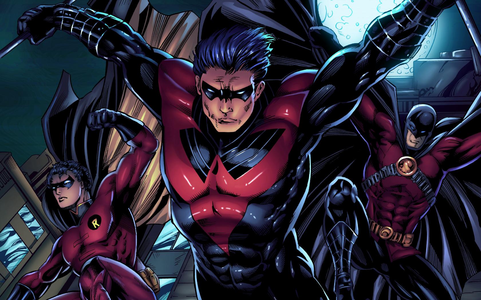 Download Wallpaper Fiction Batman Heroes Art Dc Comics Robin