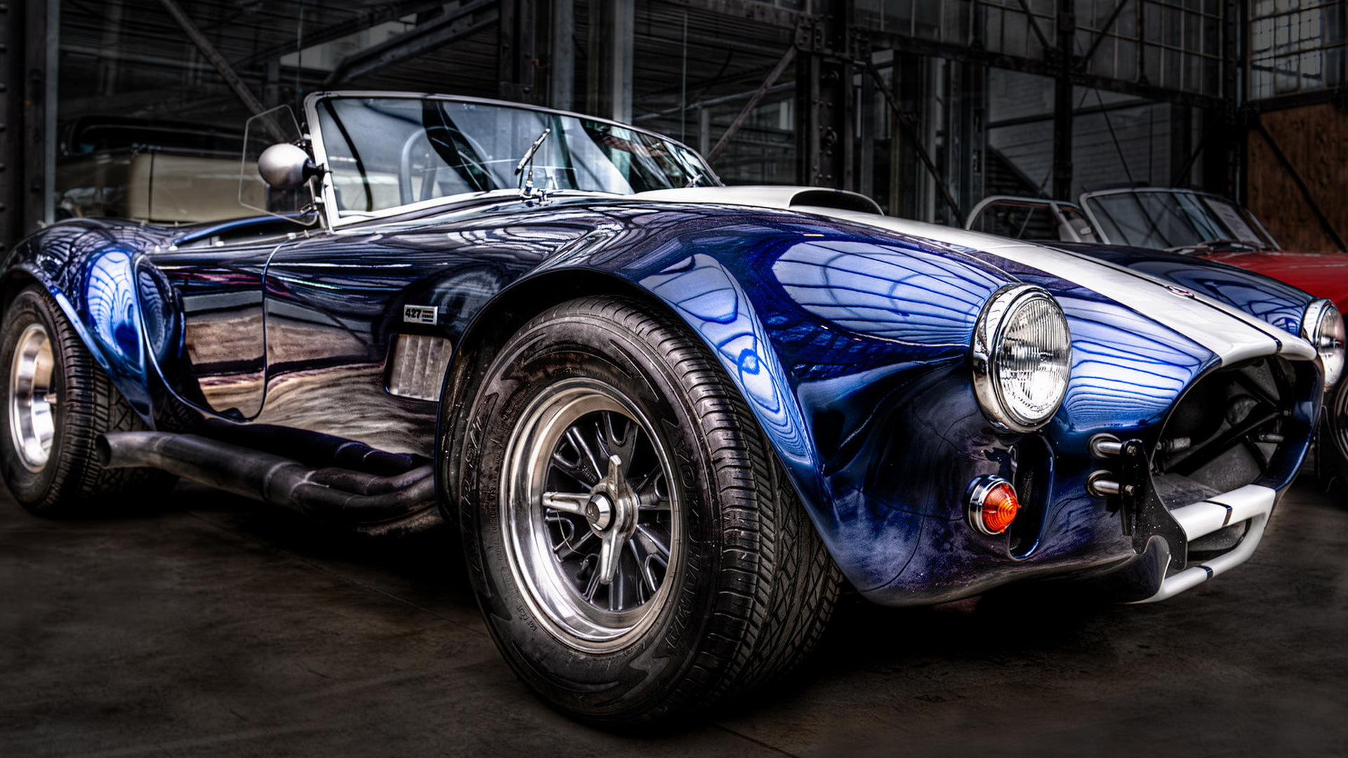 Download wallpaper Cobra, Cabrio, Classic Car, Blue ...