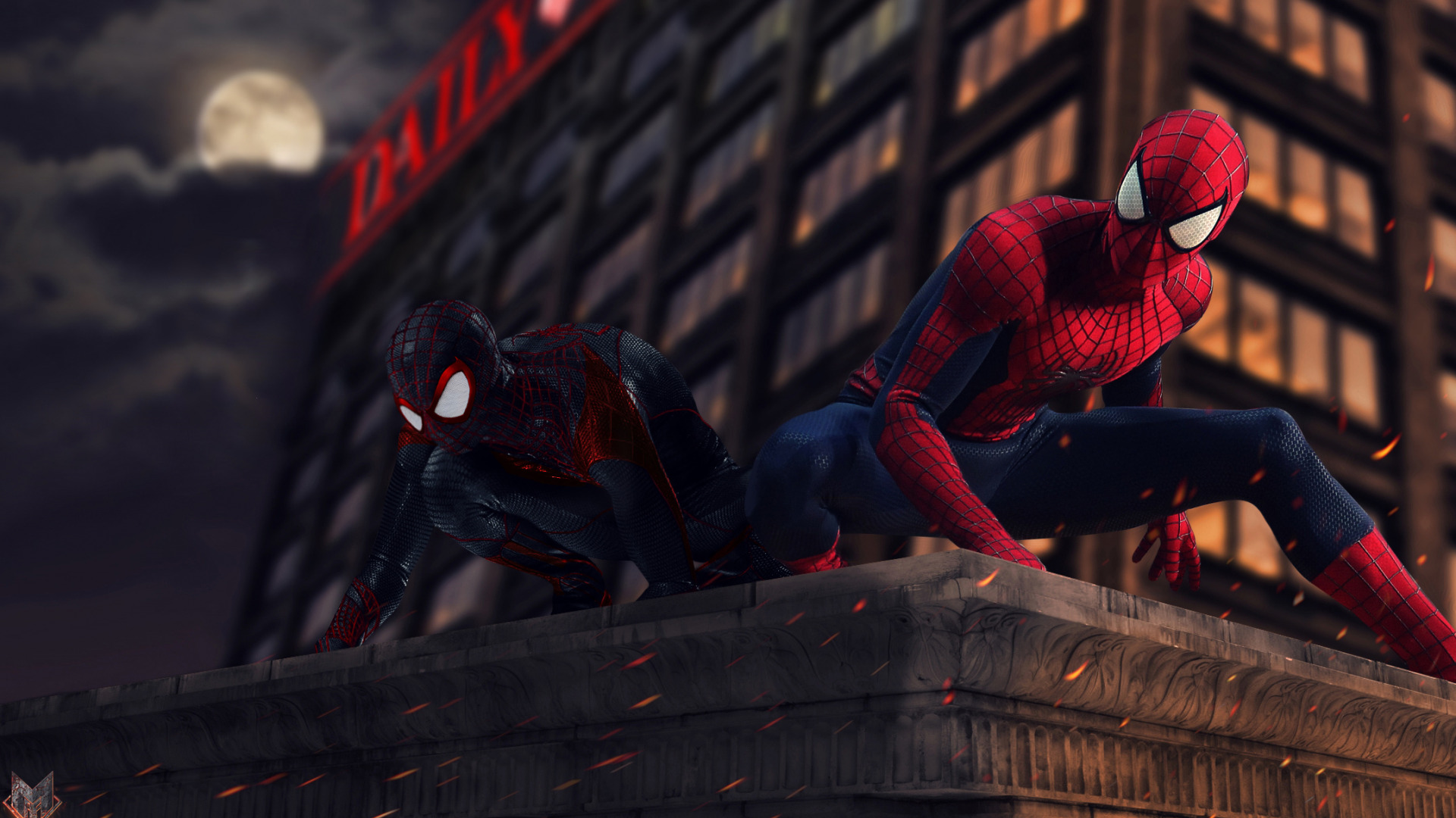 Download Wallpaper Marvel Spider Man Peter Parker Miles Morales