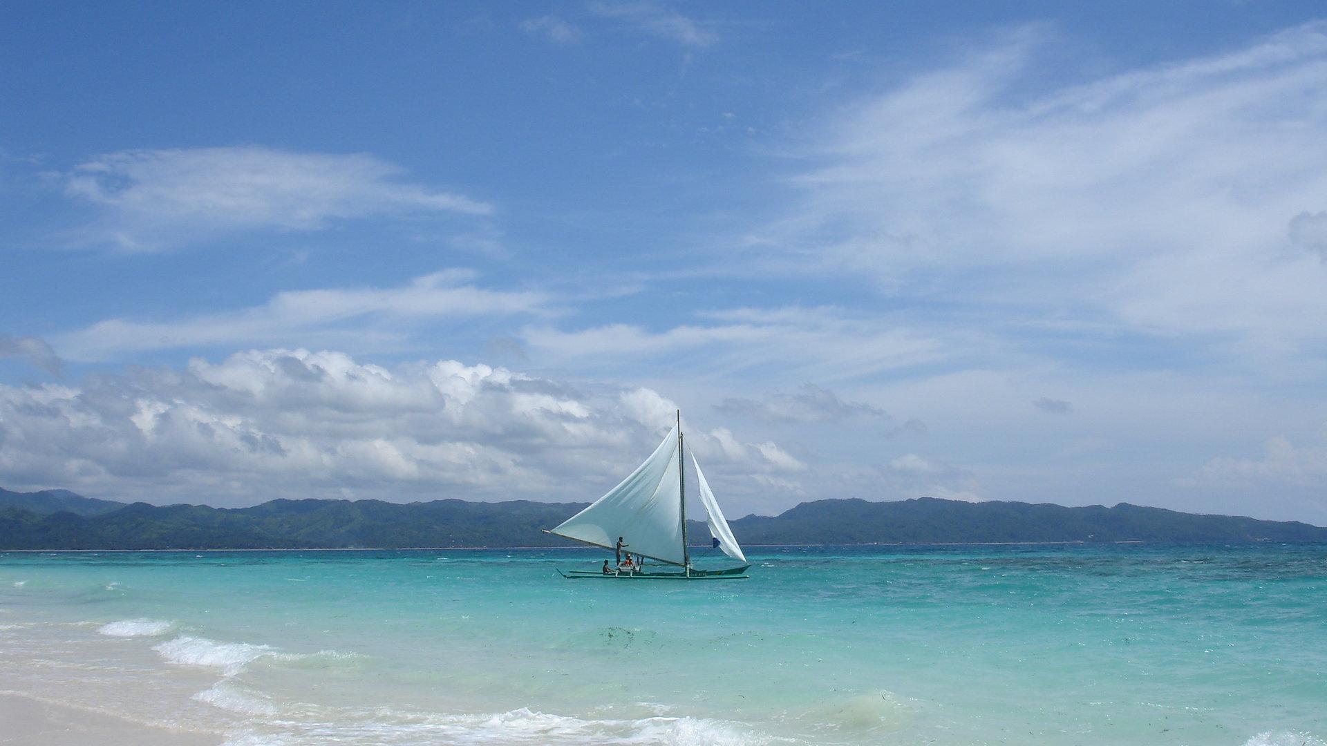 яхта парус море остров  № 3944516 бесплатно