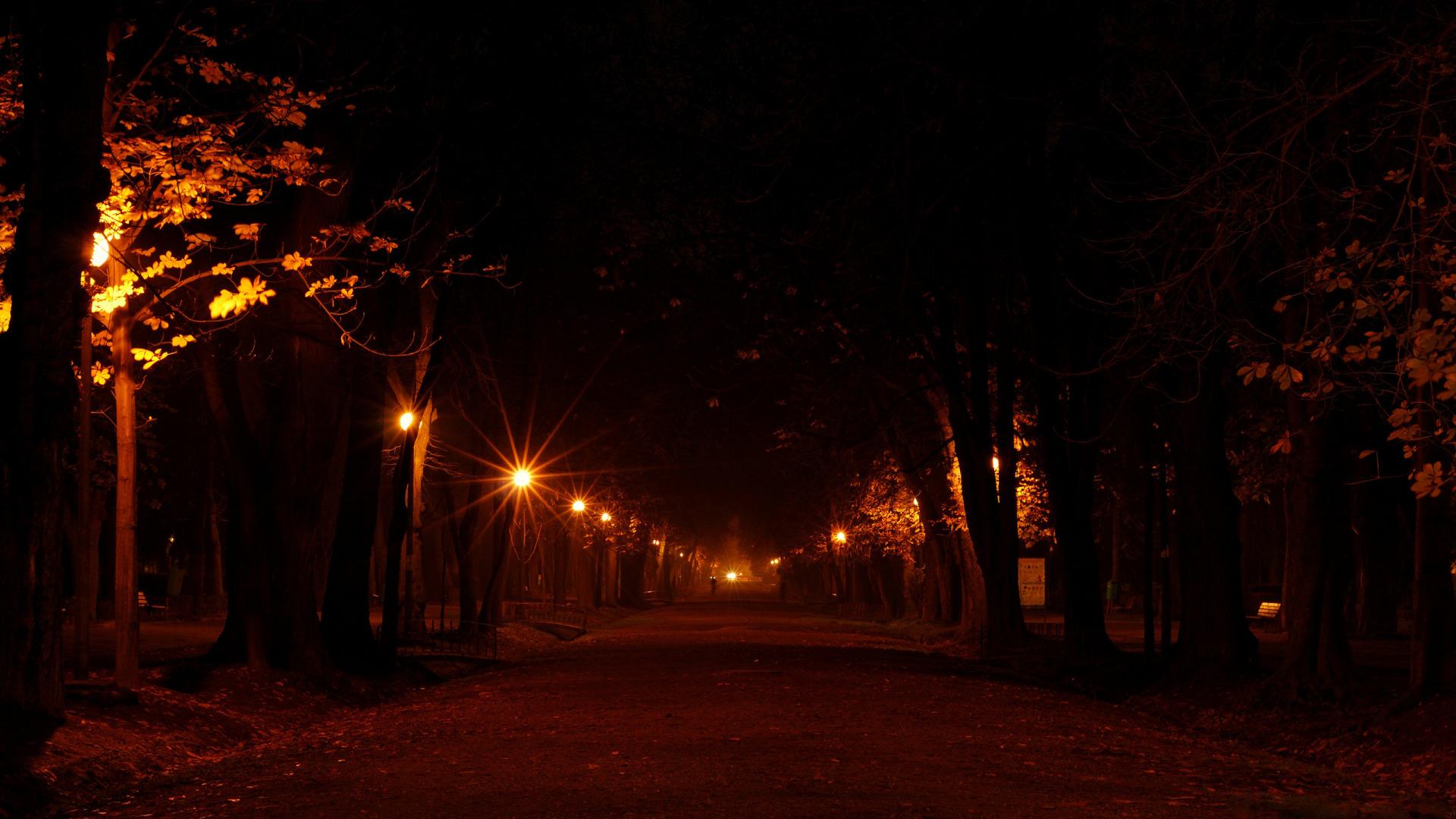 Франция дороги ночь фонари  № 2229305 бесплатно