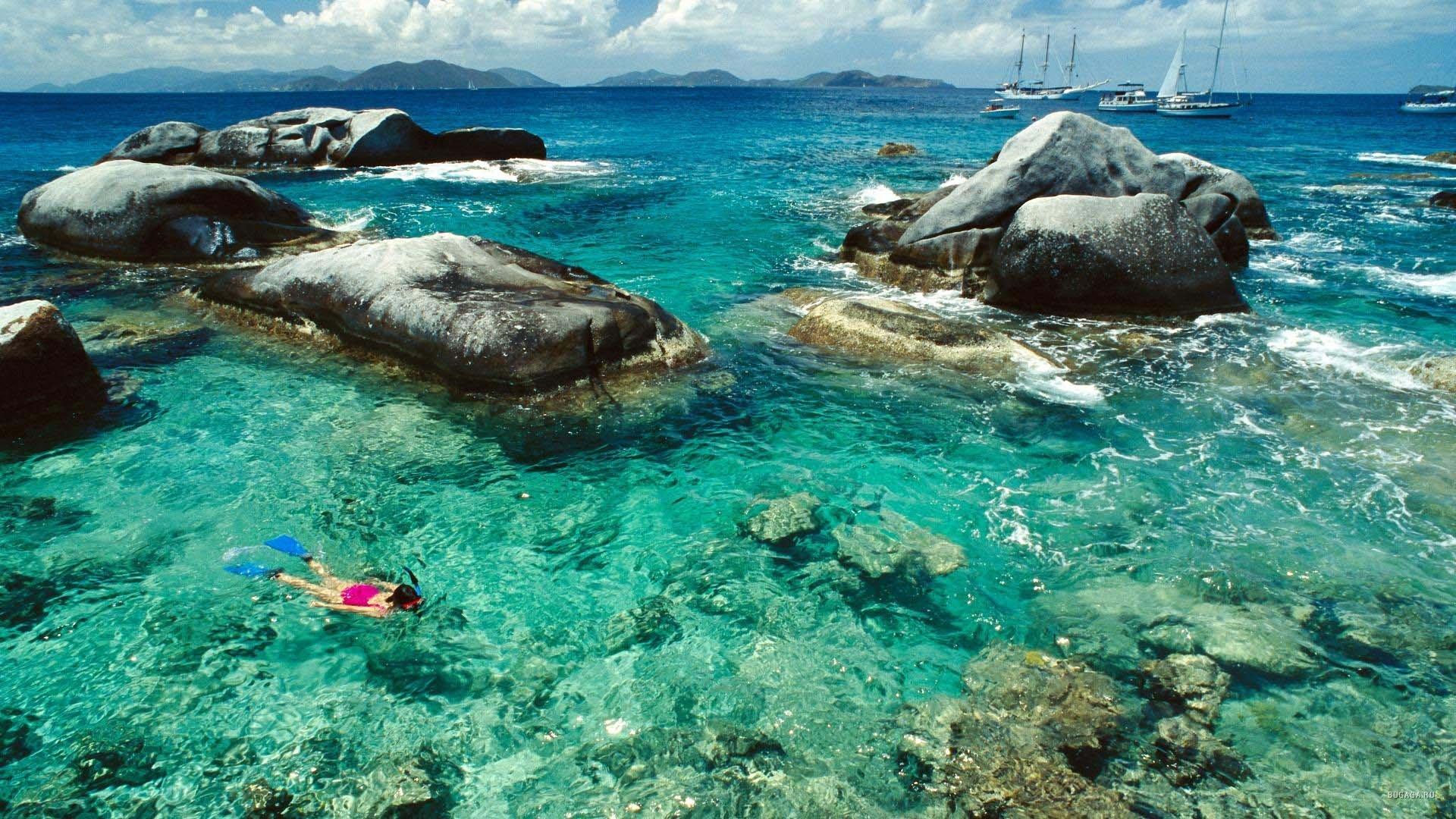 The Baths, Virgin Gorda Island, British Virgin Islands, West Indies  № 1471475 без смс