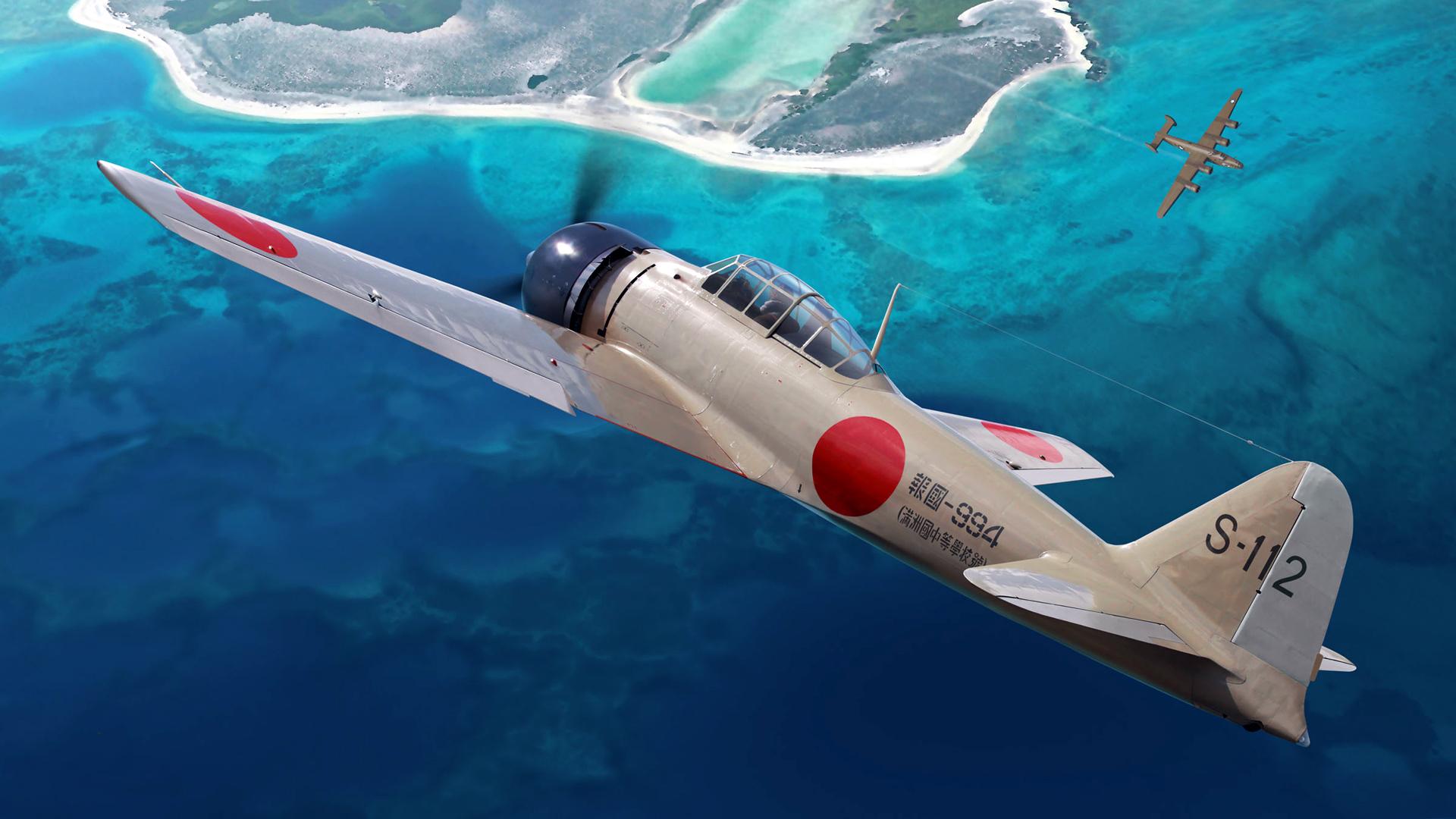 99 mitsubishi a6m zero japan wwii pacificocean - HD1920×1080