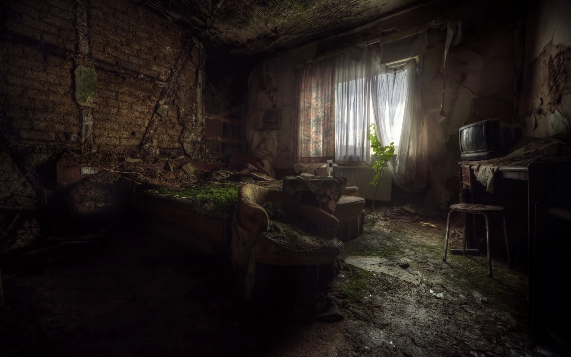 Download Wallpaper Horror Another Room Decayed Buildings