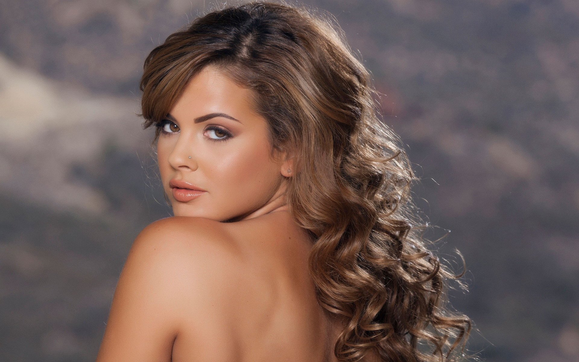 Hair sexy model gif