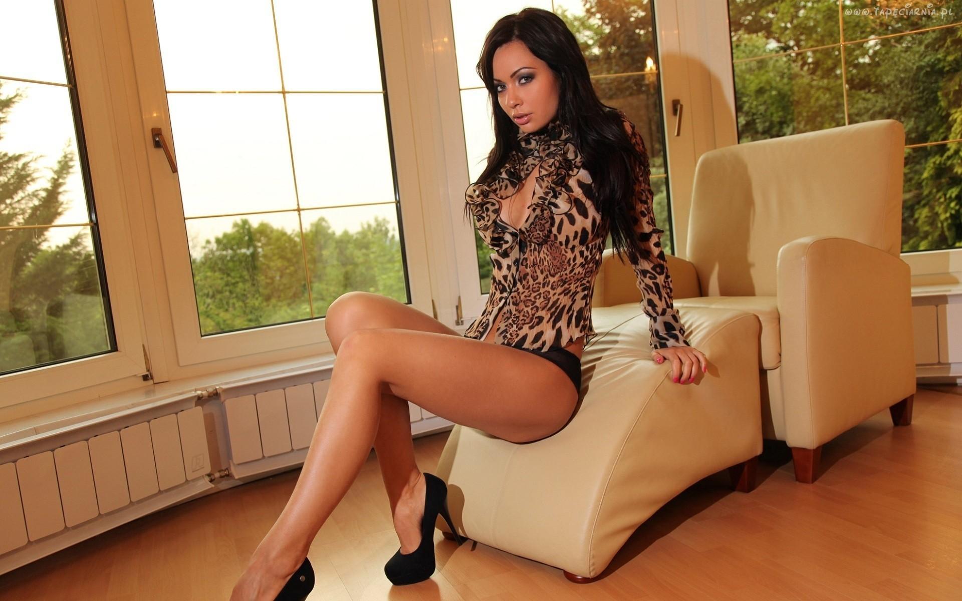 Beautiful solo girl Mira Sunset removing high heels from stocking attired feet № 628404 без смс