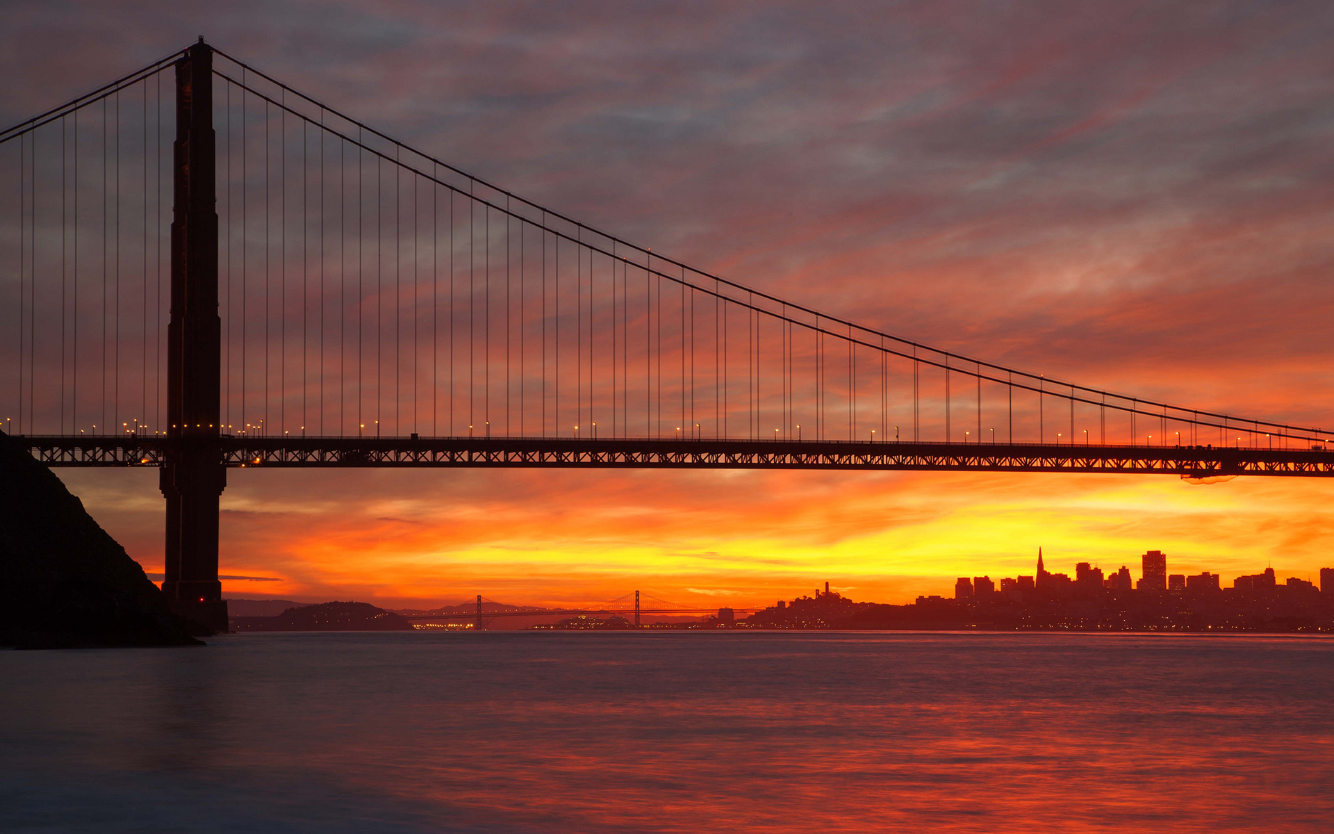 sunrise pictures golden gate - HD1920×1200