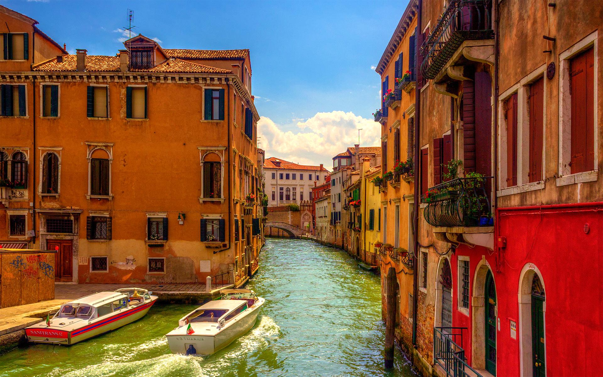 Sunset Over Grand Canal, Venice, Italy  № 1471251 без смс