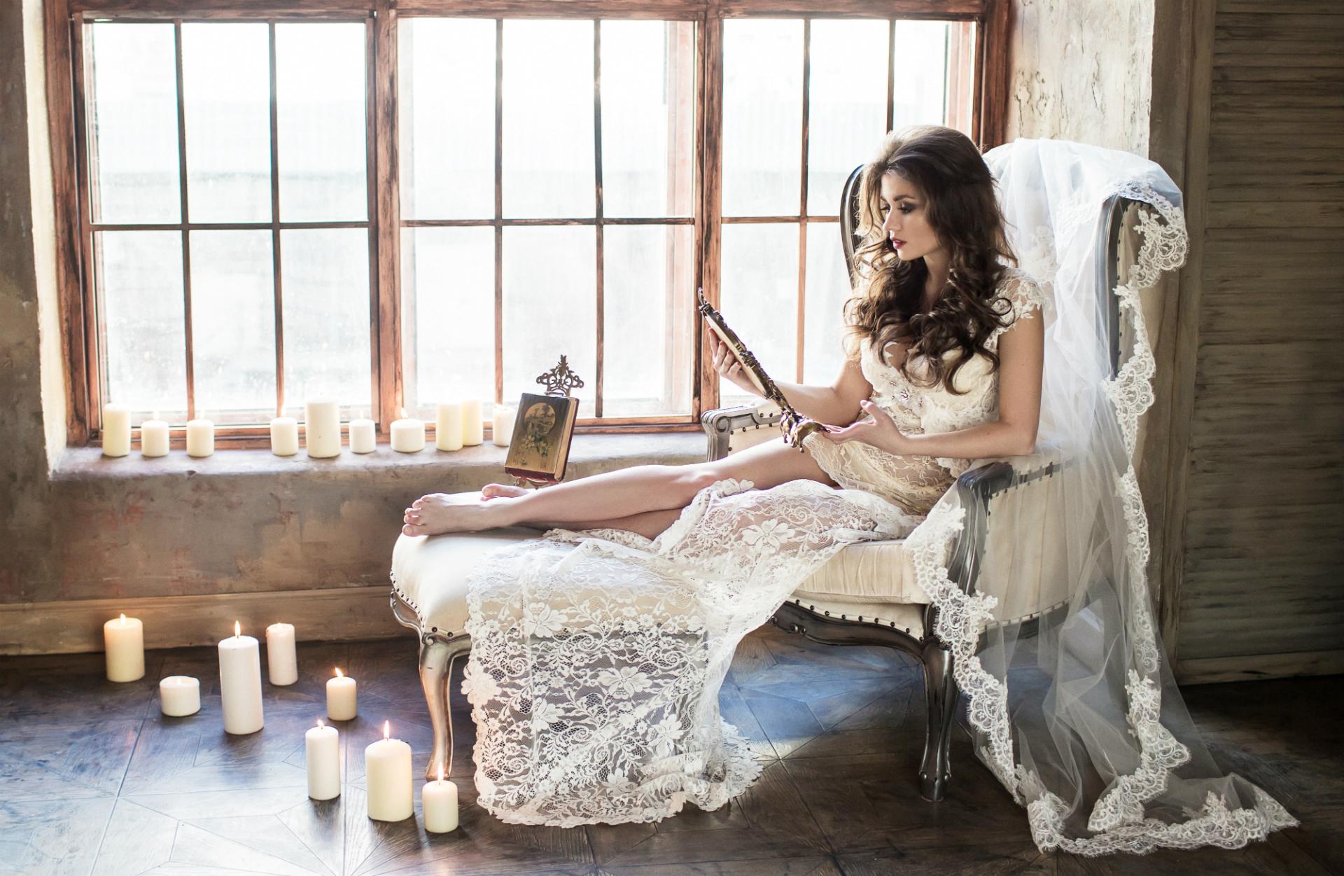 Фото невеста в кресле