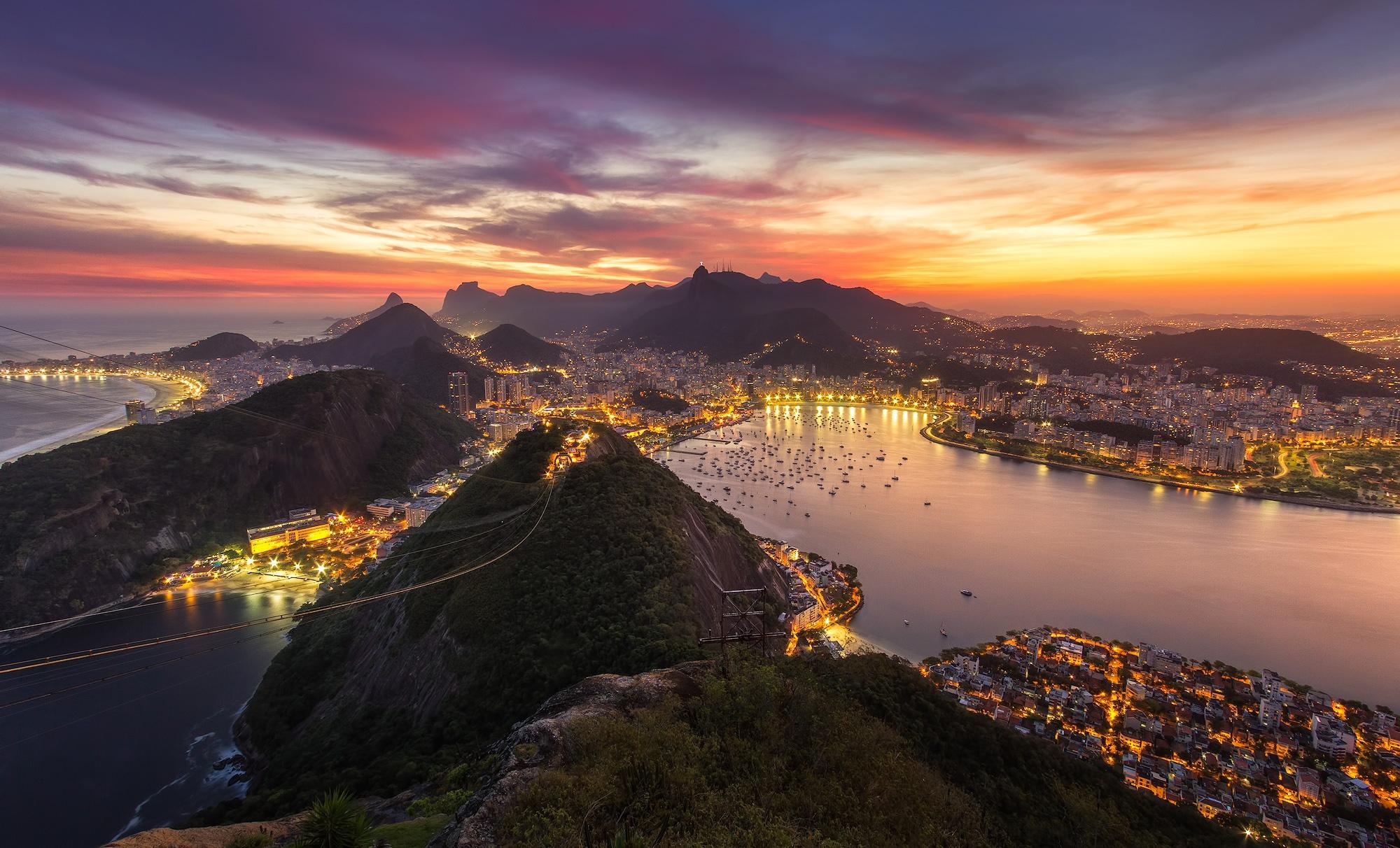 Рио-де-Жанейро перед рассветом  № 1457601 бесплатно