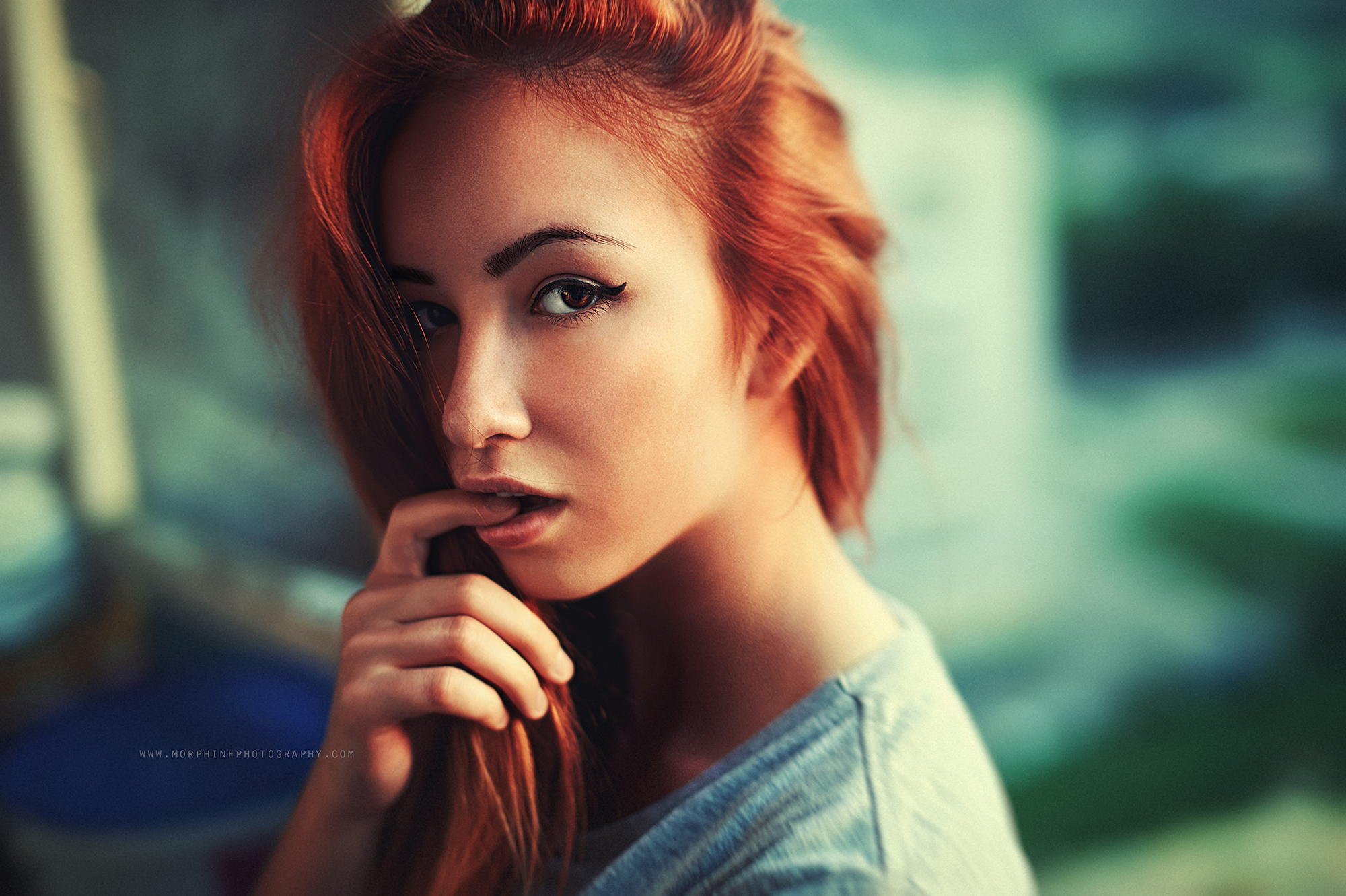 Nina redhead girlfriend mood naked pics
