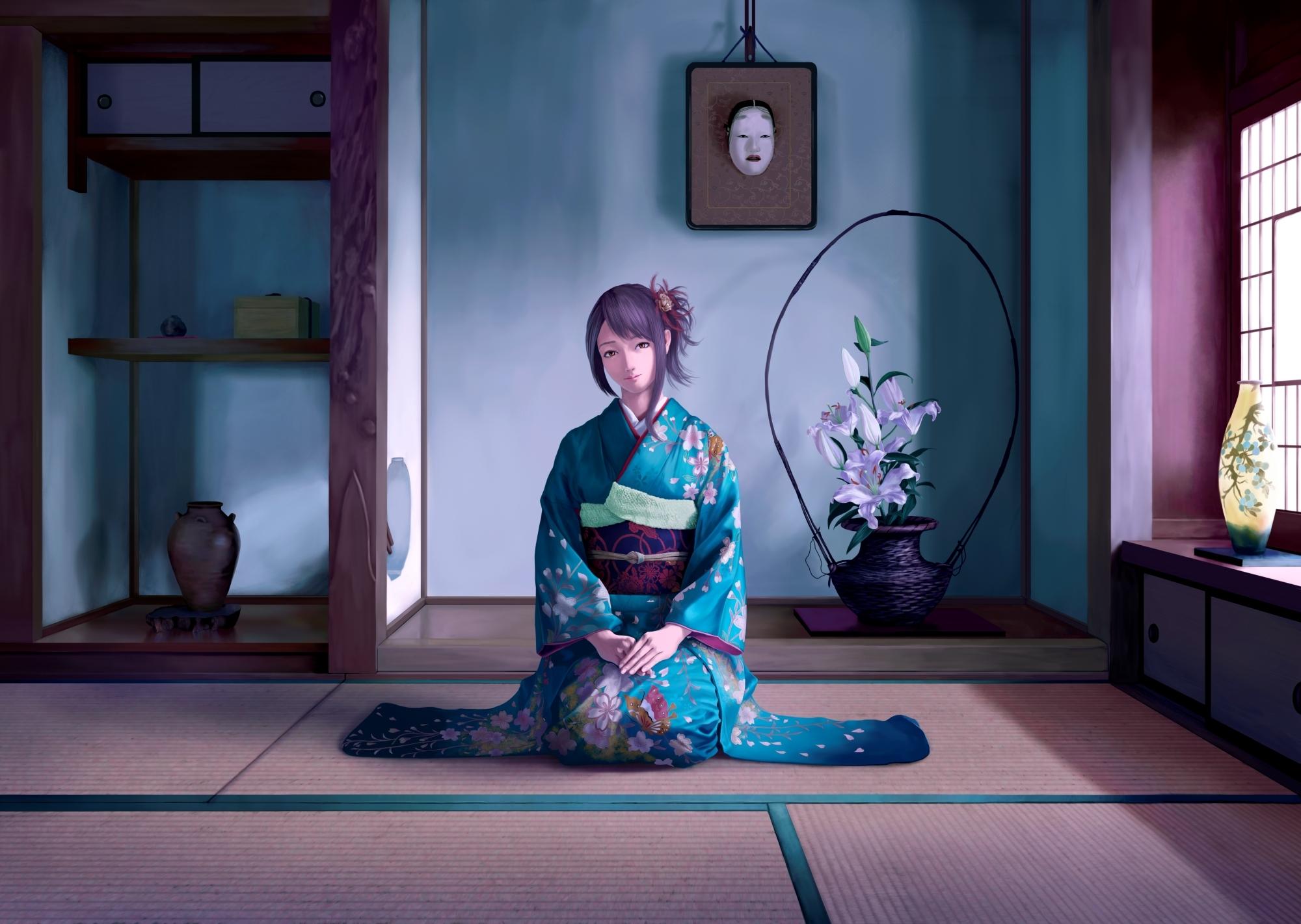 Девушка на балконе японское аниме  № 3866825 бесплатно