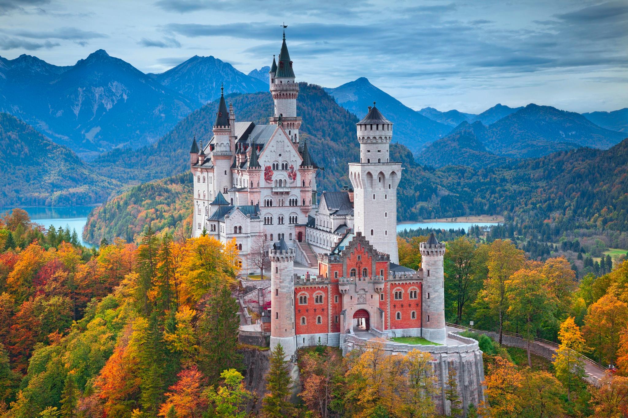 архитектура страны Замок Нойшванштайн Швангау Германия  № 2231500 бесплатно