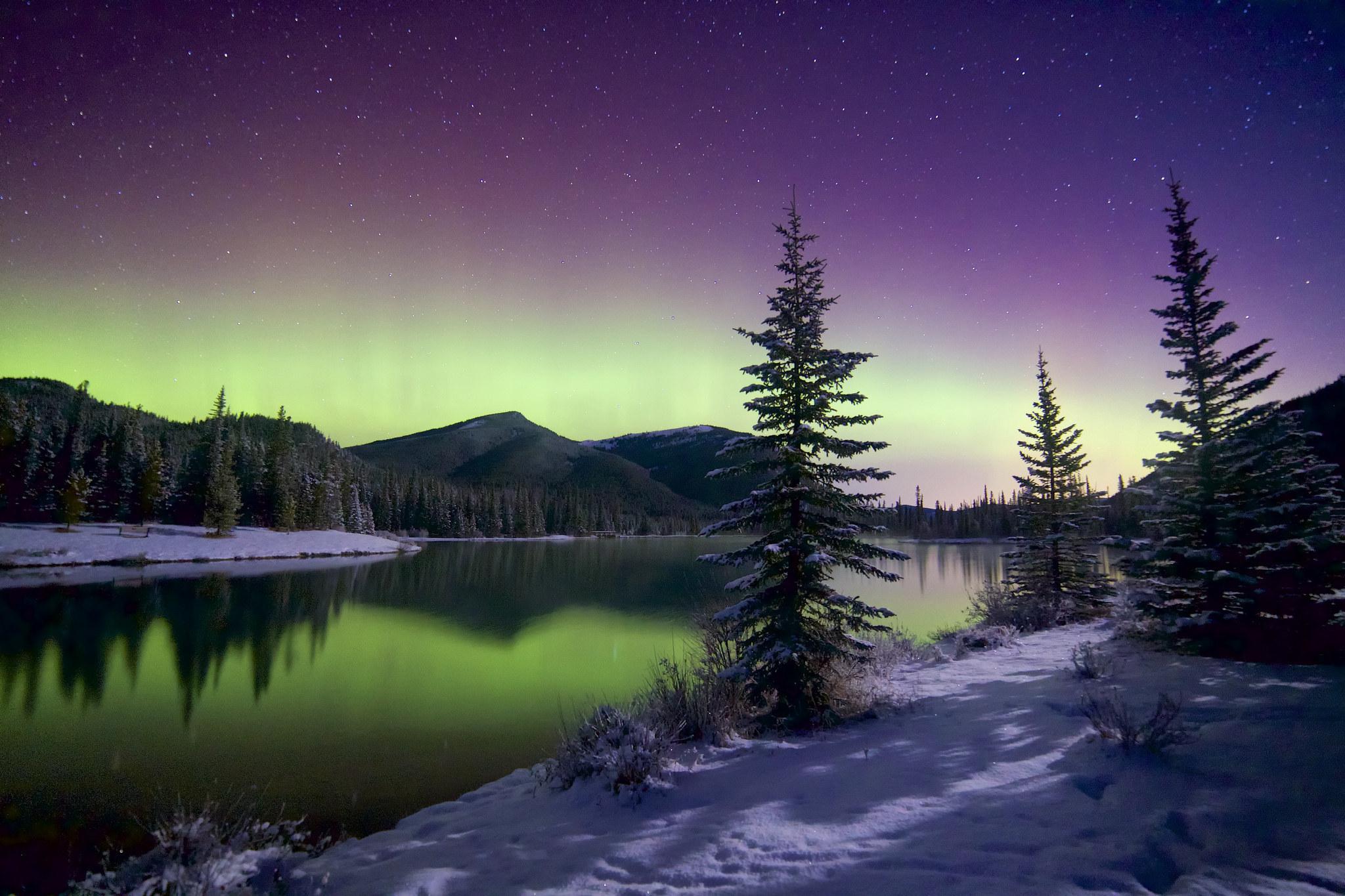 сияние озеро снег  № 2479087 без смс