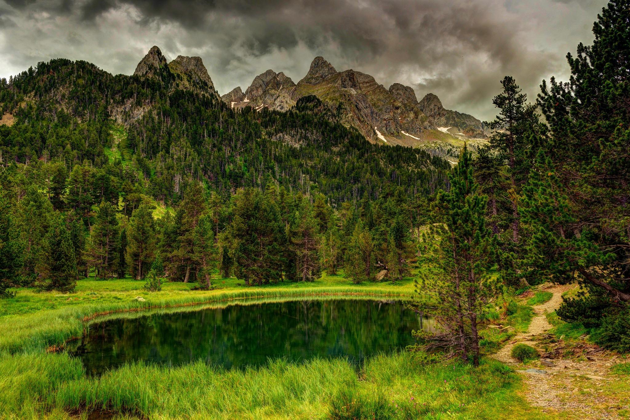 природа горы облака деревья река nature mountains clouds trees river  № 1000550 загрузить
