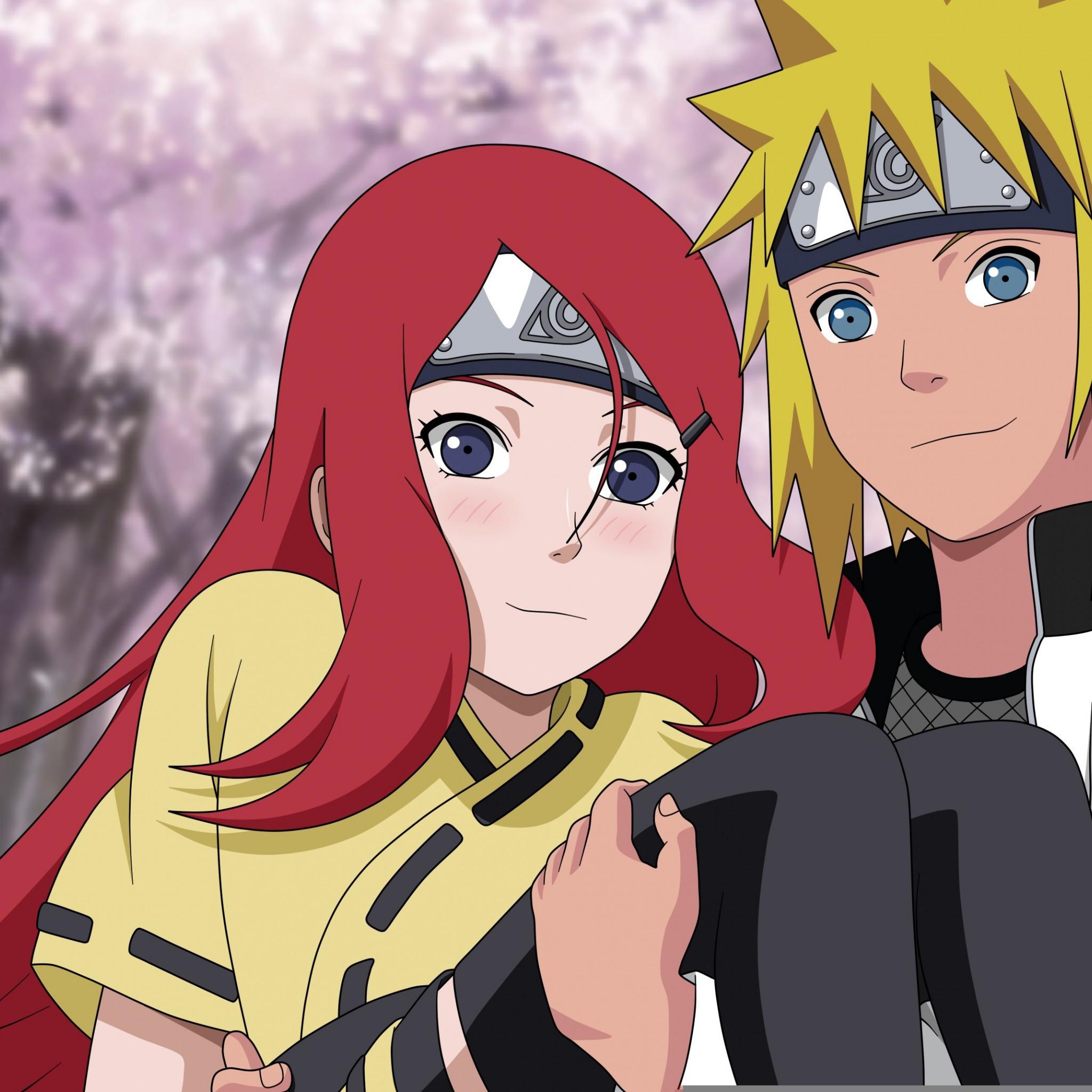 Download Wallpaper Girl Love Red Hair Anime Blue Eyes
