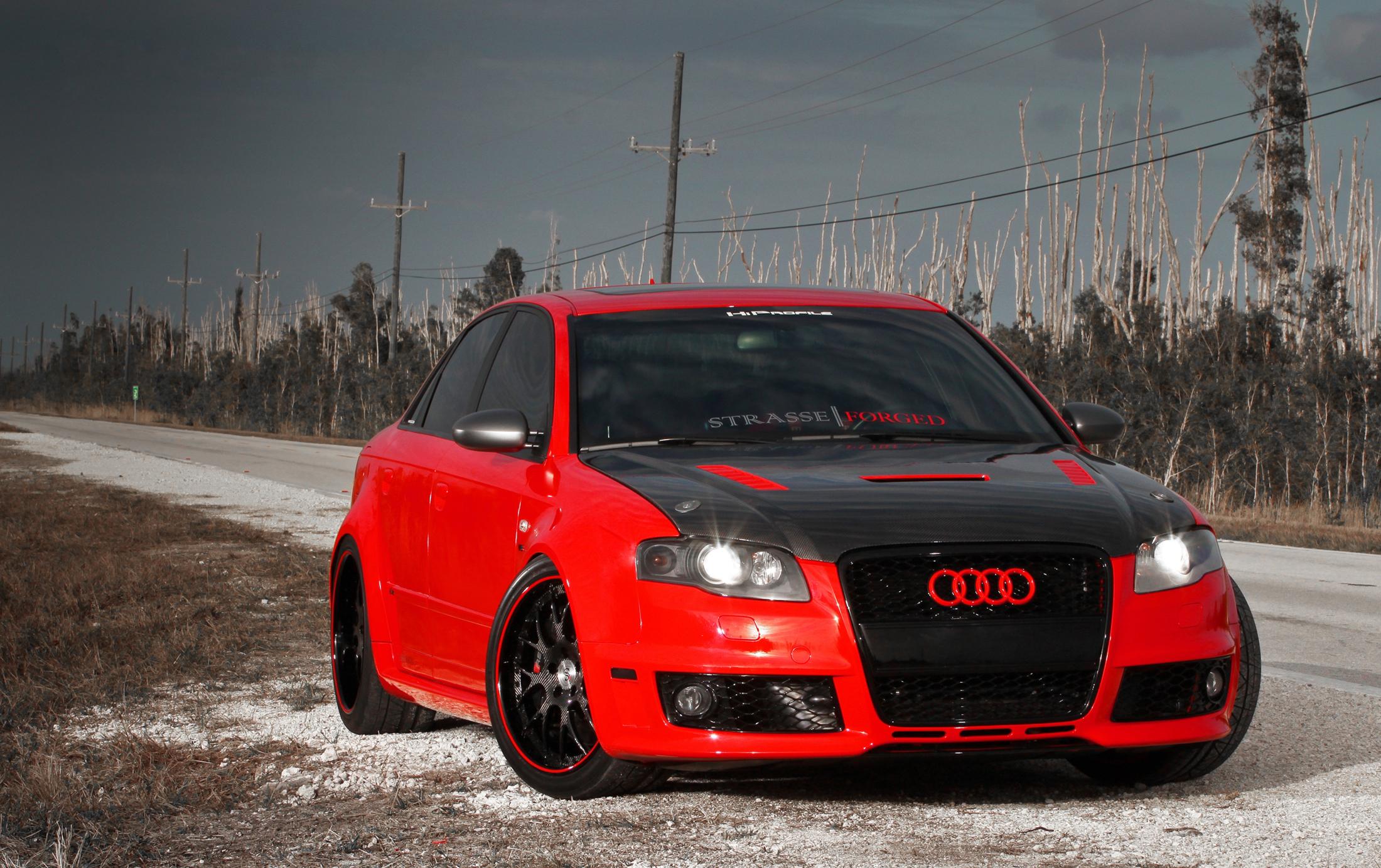 красный черный автомобиль Audi TT red black car  № 2626200 загрузить