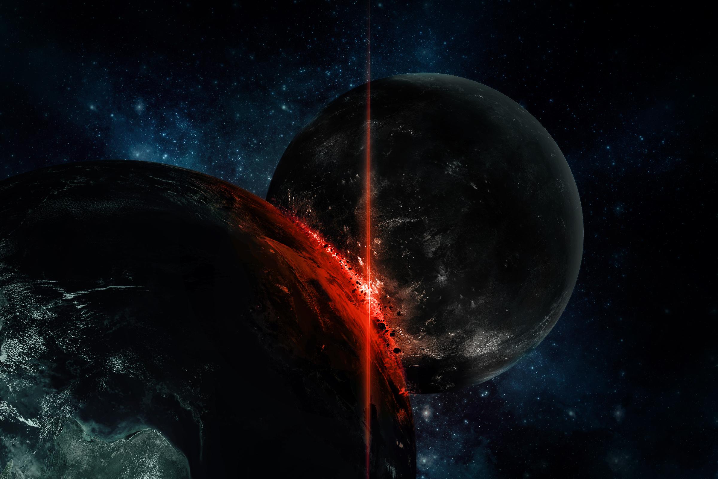 Обои огненная планета картинки на рабочий стол на тему Космос - скачать  № 433790 без смс