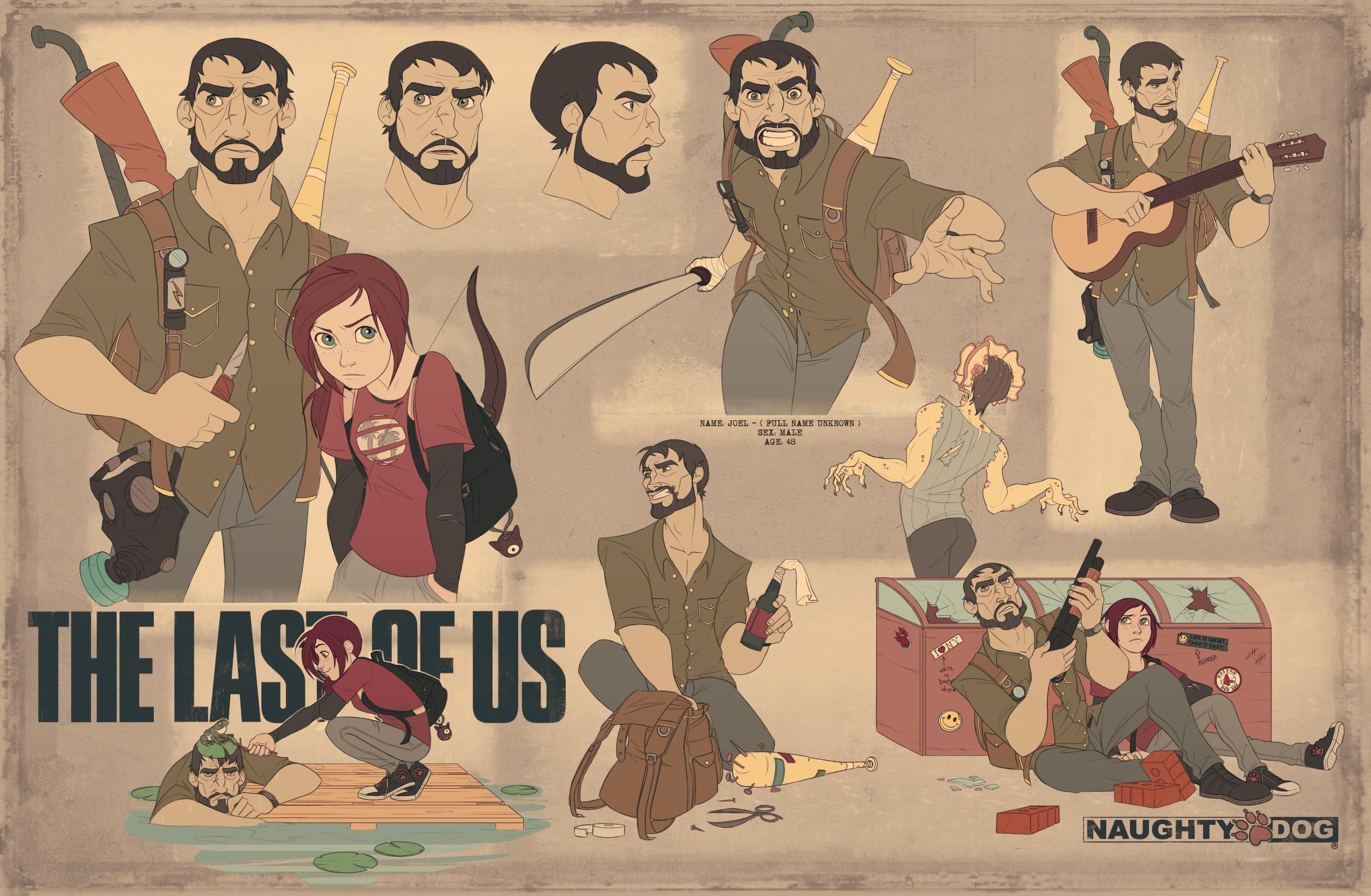 Download Wallpaper Weapons Ellie Art The Last Of Us Joel
