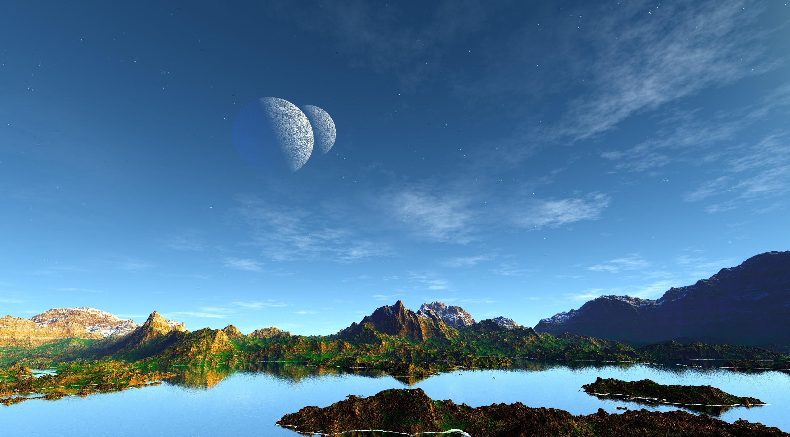 Планеты над горами  № 1163981 без смс