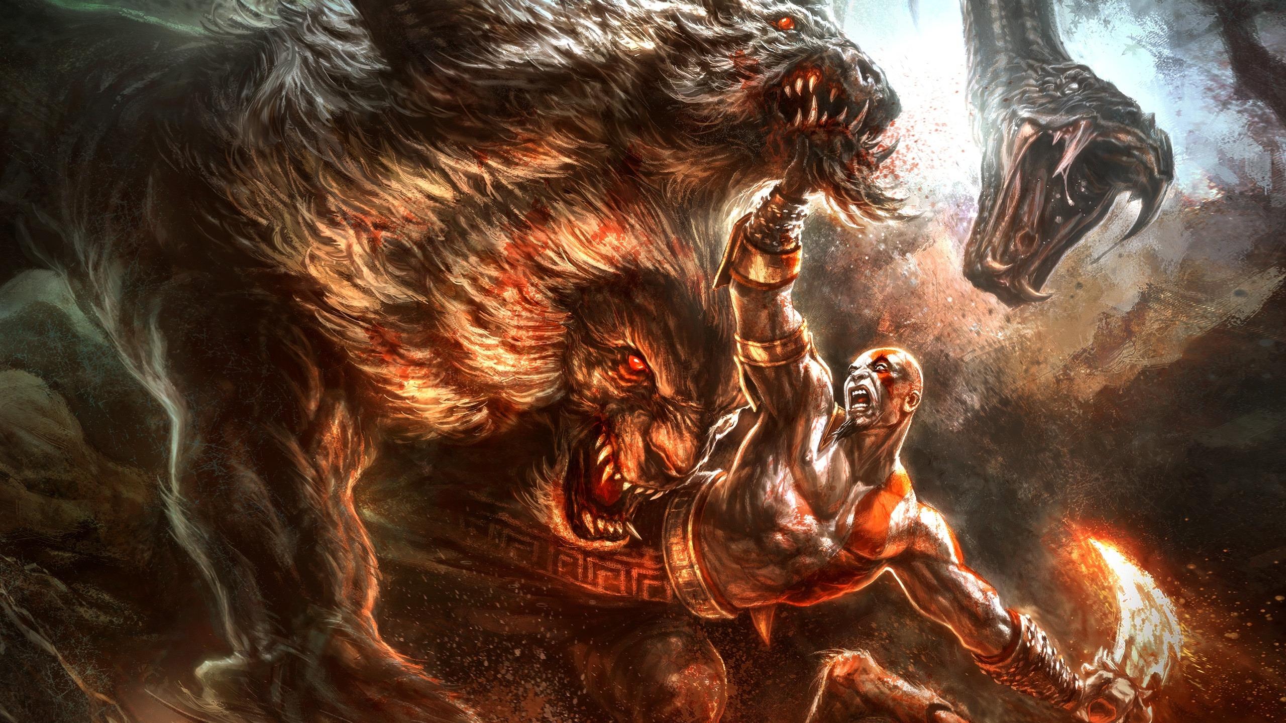 Download Wallpaper Kratos God Of War 3 Animal Gods