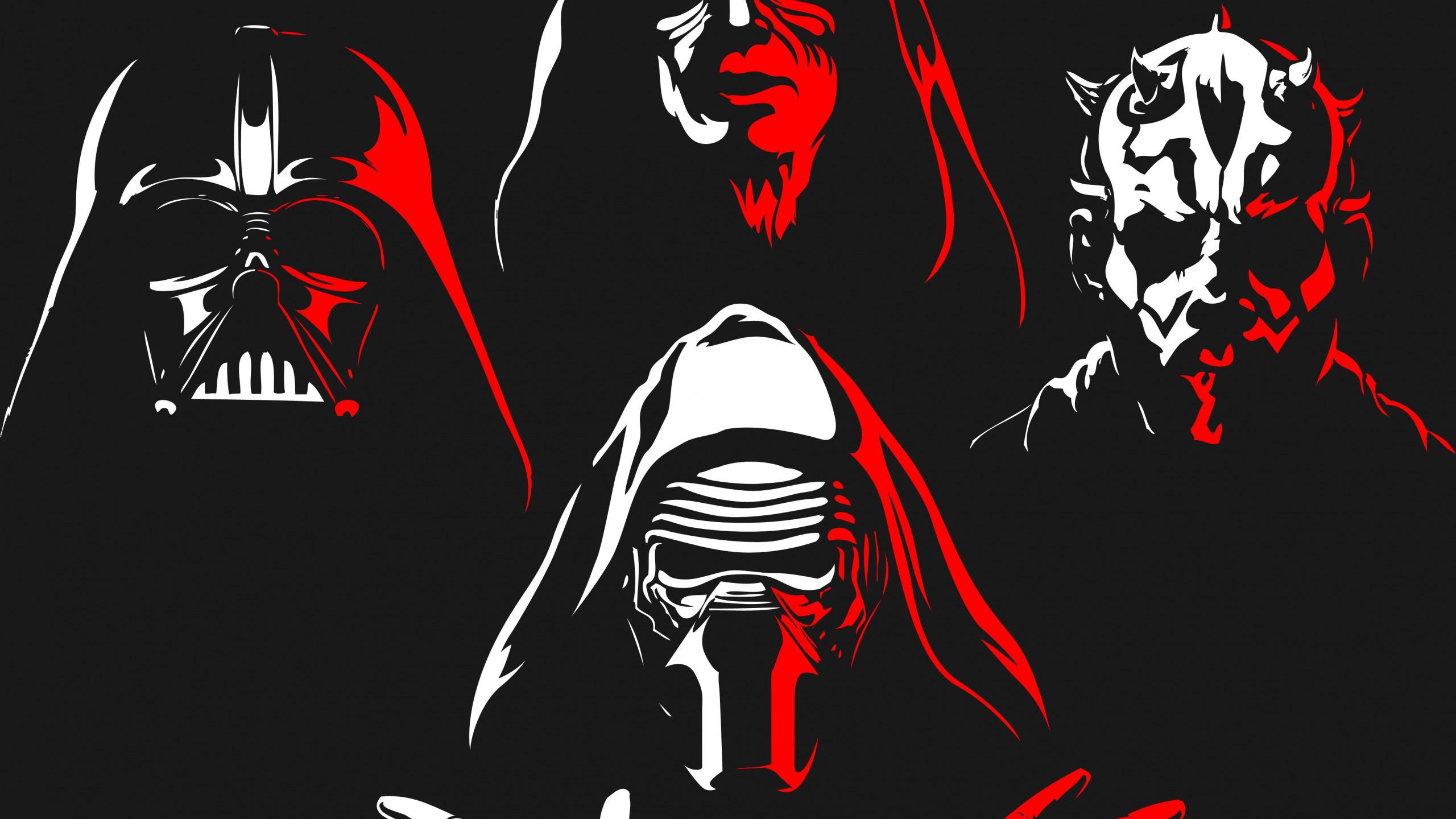 Download Wallpaper Red White Star Wars Darth Maul Darth Vader