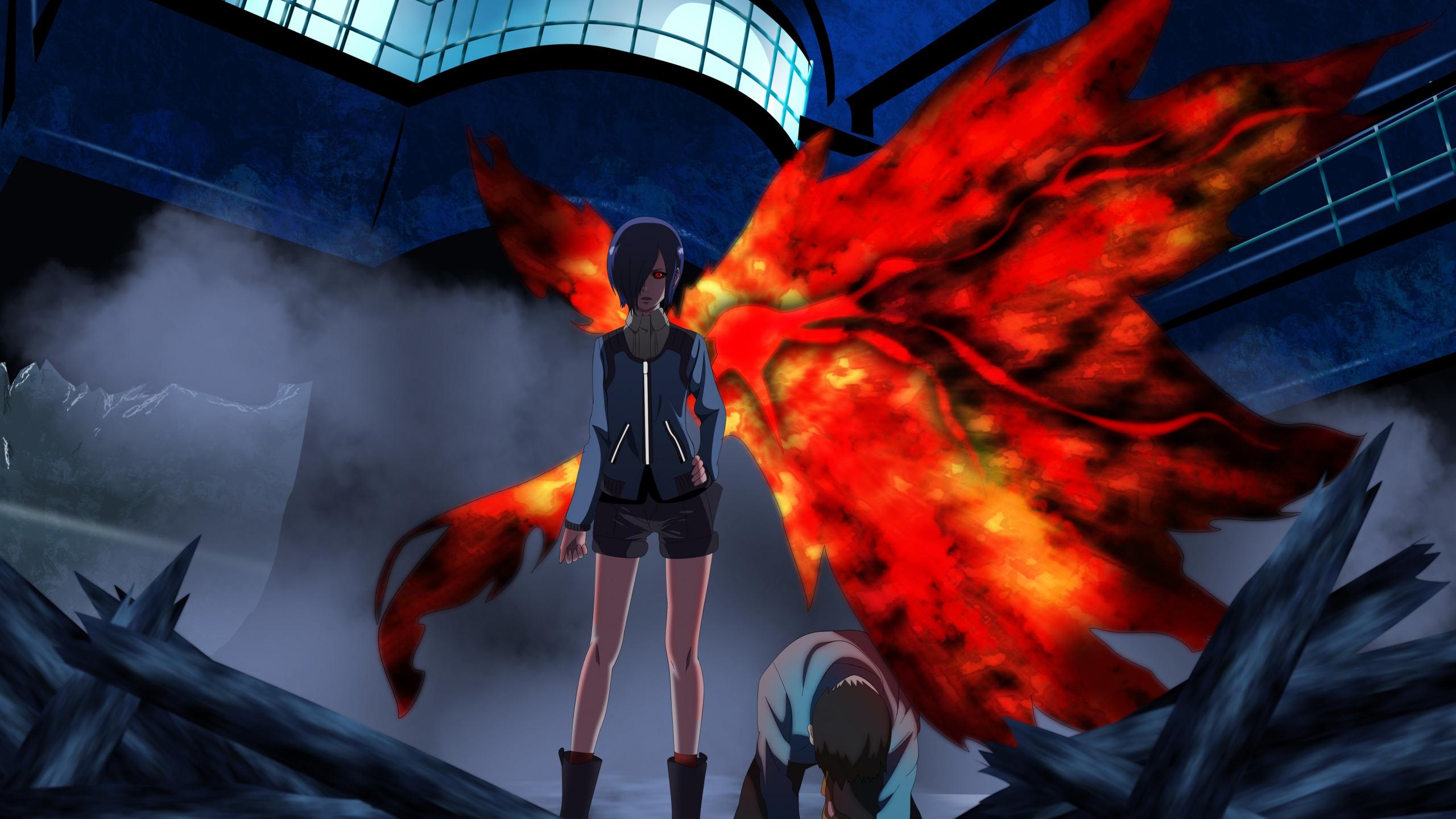 Download Wallpaper Girl Blood Game Monster Anime Wings