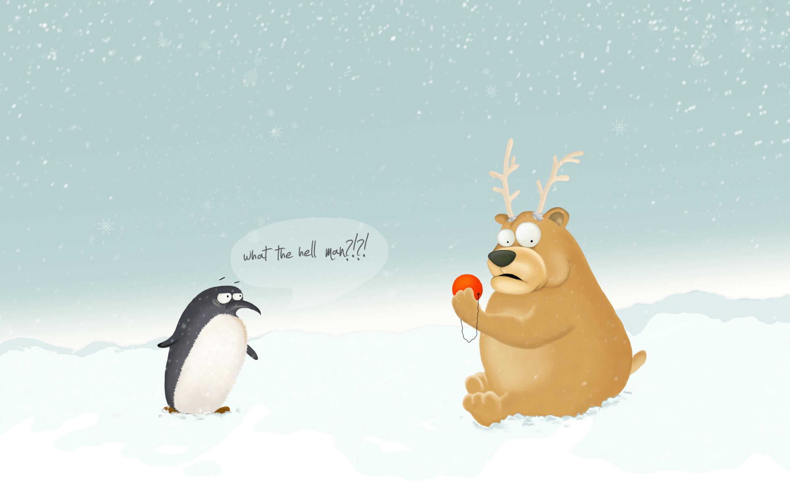 рождество,снежинки,снег,пингвиненок  № 442178 загрузить