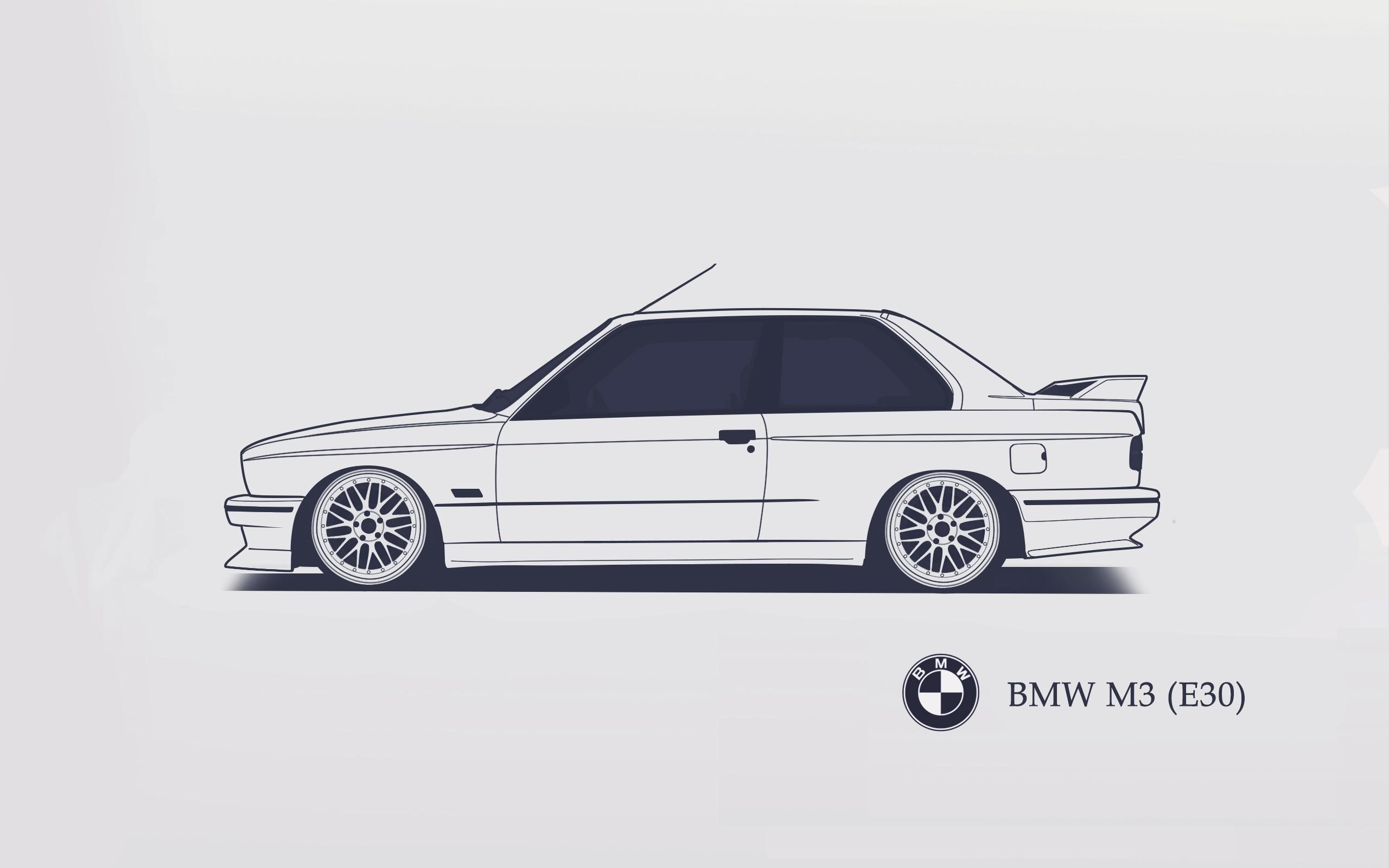 Download Wallpaper Bmw E30 Minimalistic Srcky Design Section