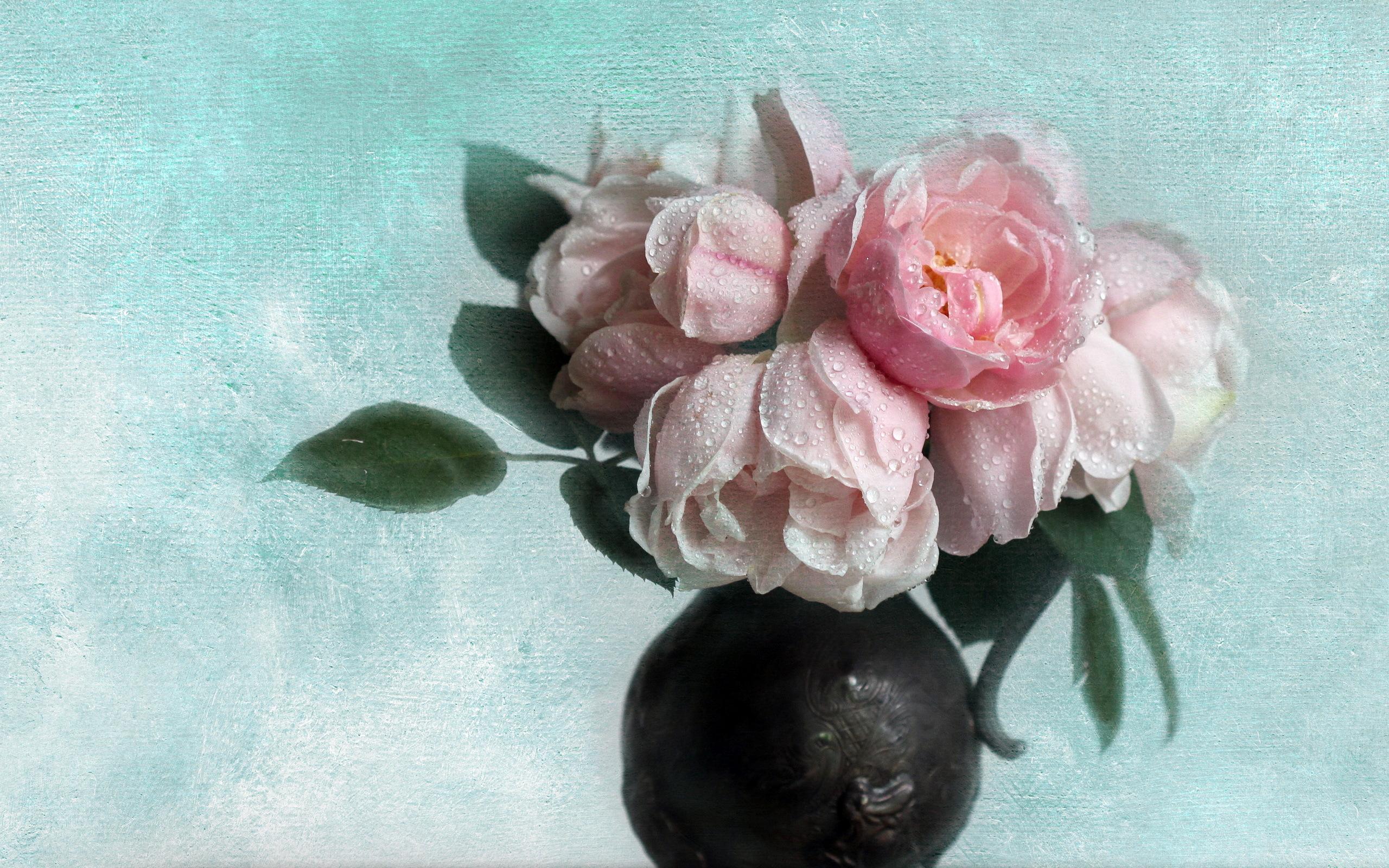 розы цветы ваза  № 1332636 загрузить