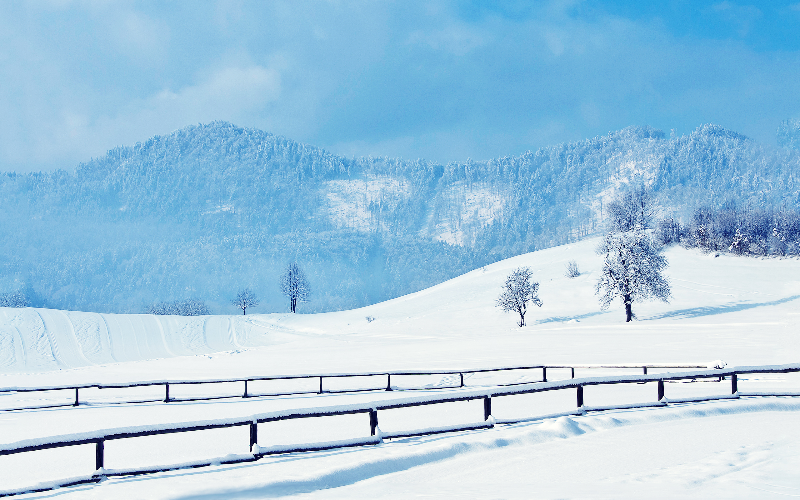 снег холмы snow hills  № 830820  скачать