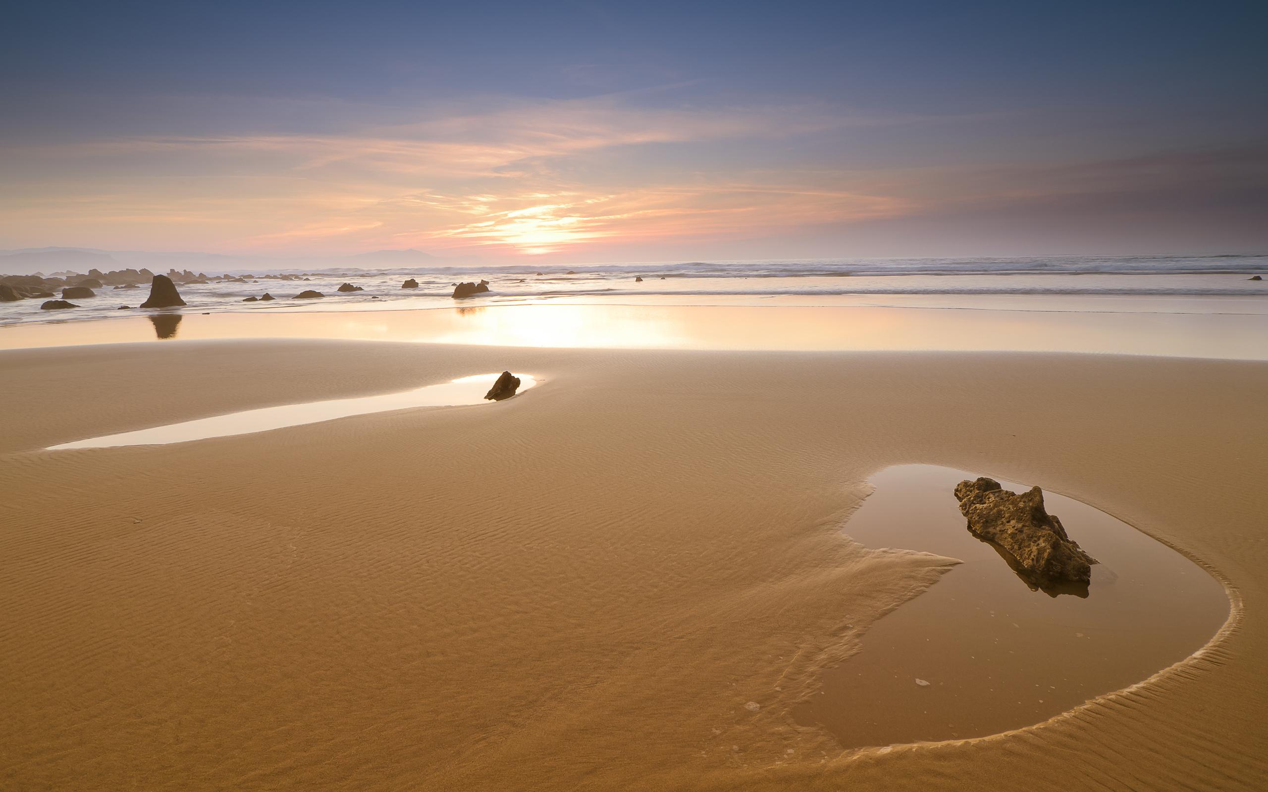 закат камень берег море sunset stone shore sea  № 1023709 бесплатно