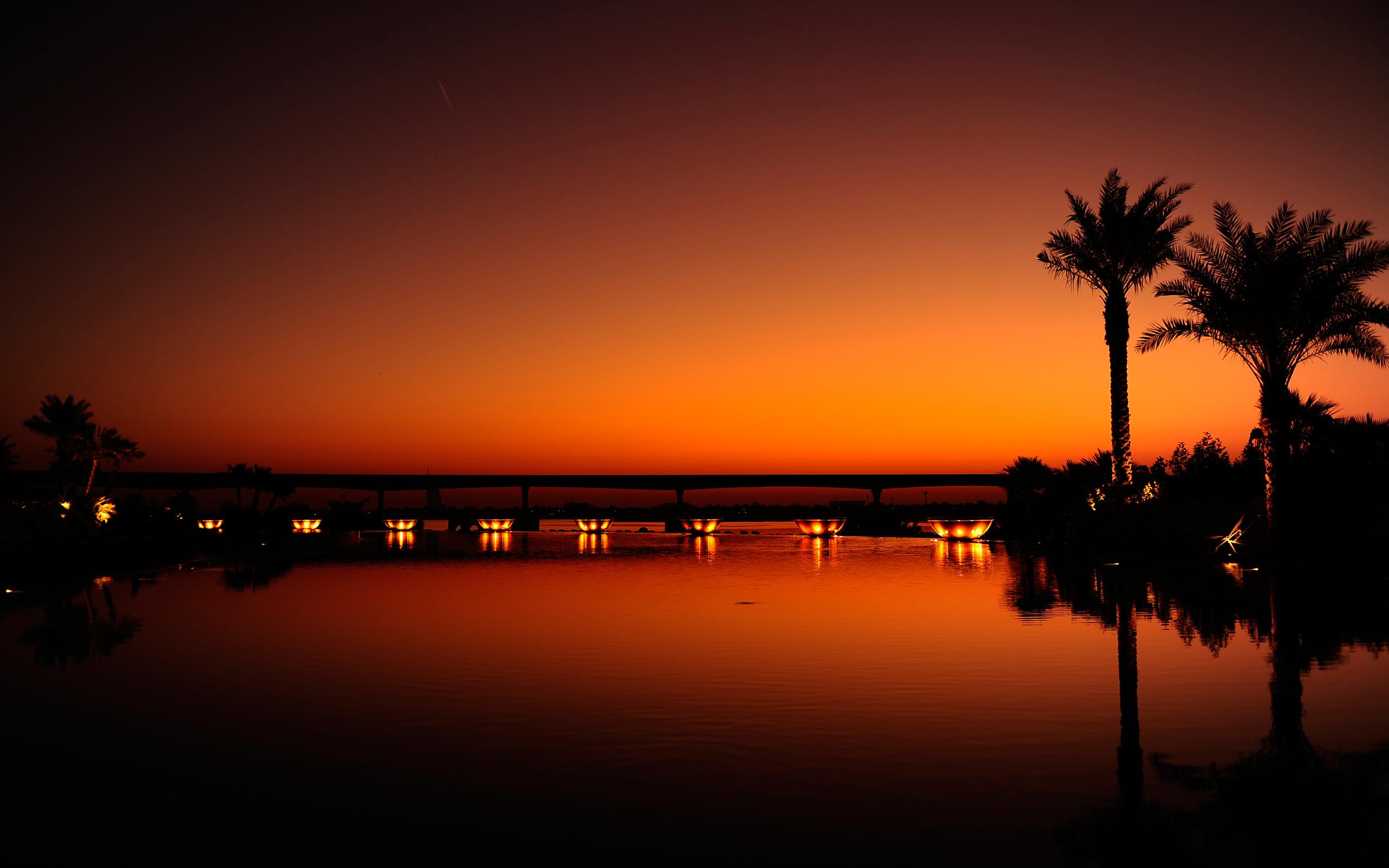 огни город море сумерки lights the city sea twilight  № 2659506  скачать