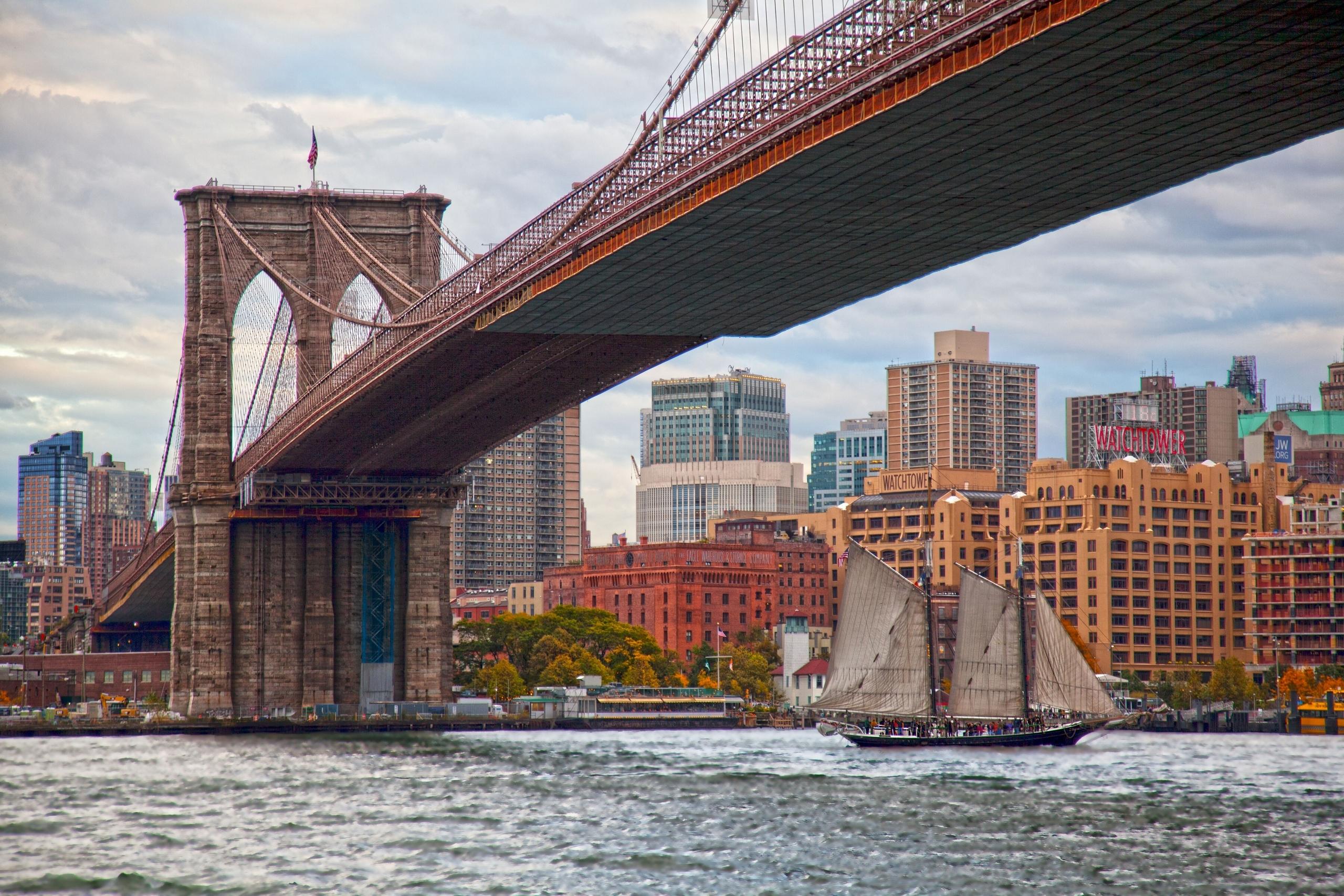 Обои для рабочего стола мост бруклинский мост