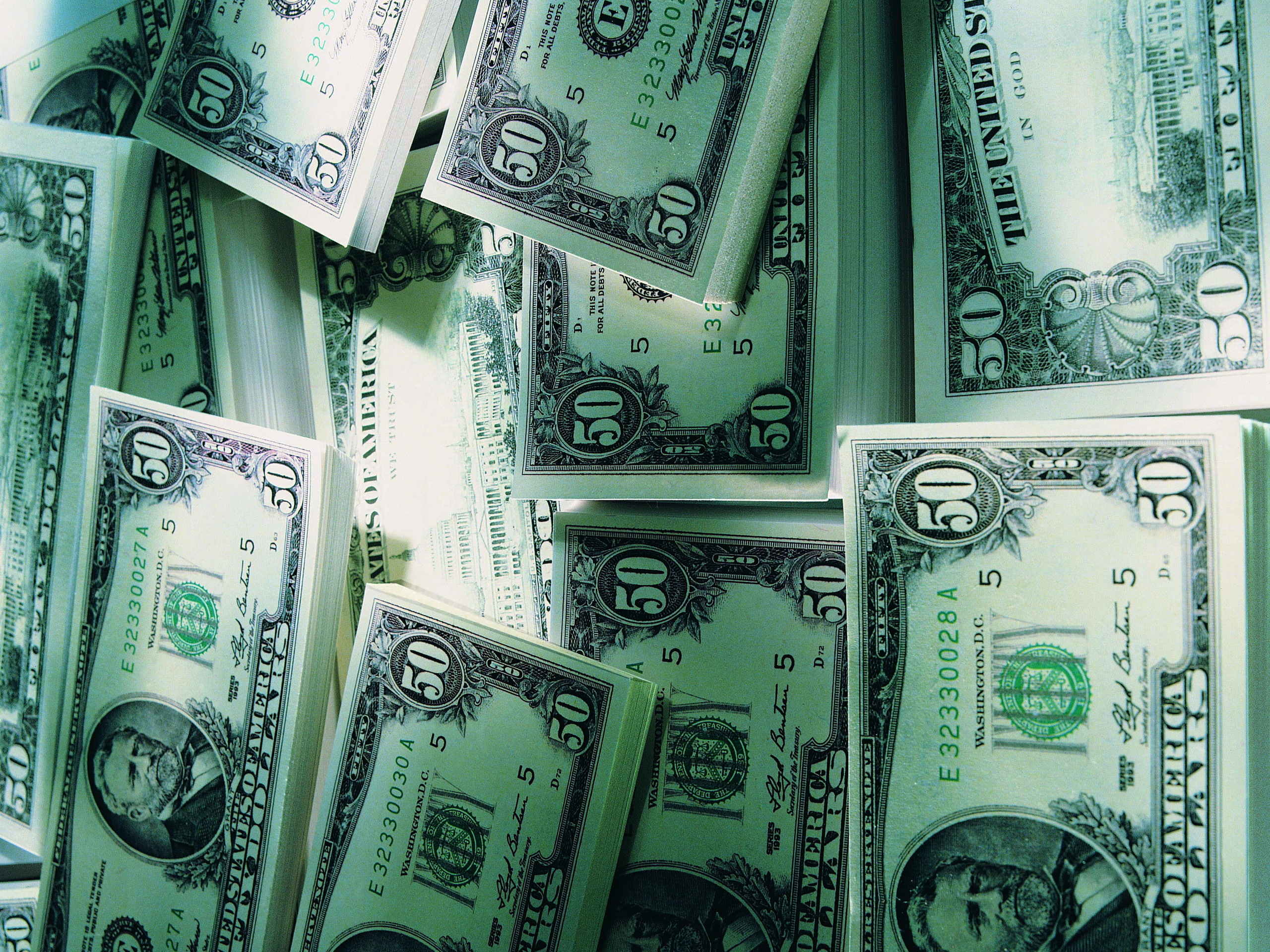 Обои Стол Деньги
