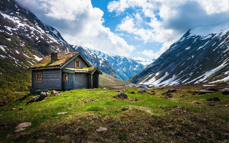 горы сарай осень mountains the barn autumn  № 387094 бесплатно