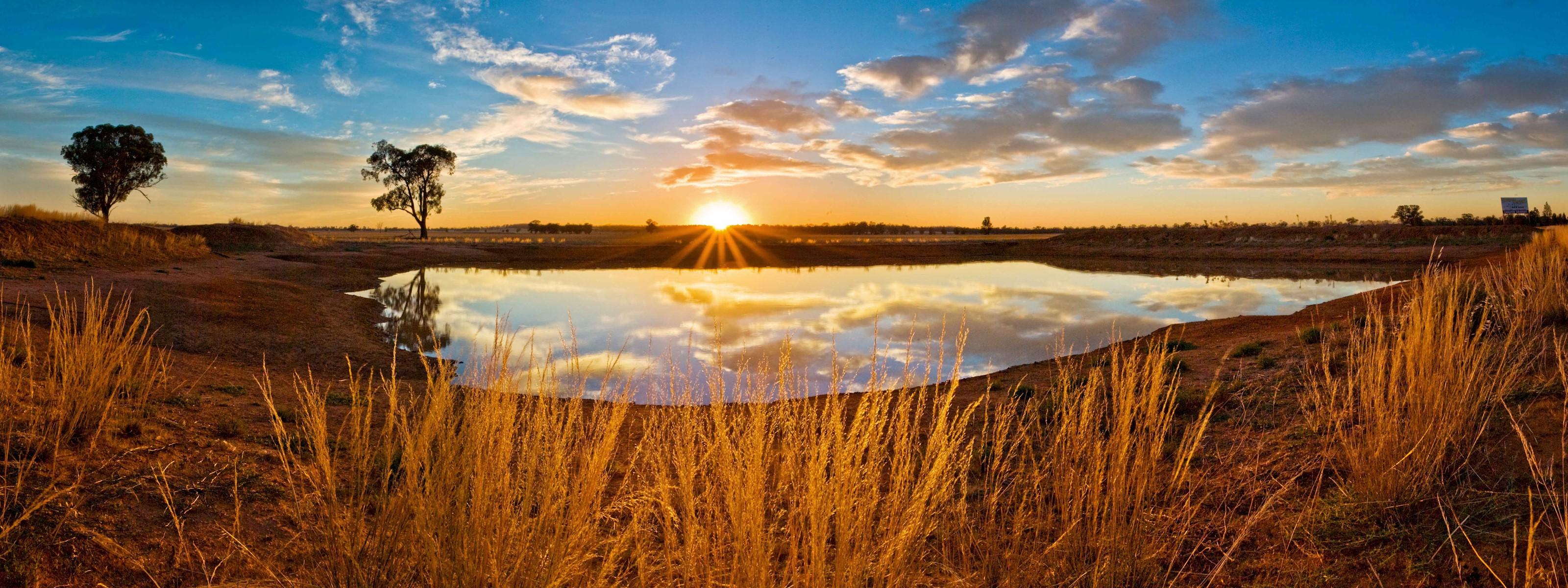 закат озеро небо трава  № 3878893 бесплатно