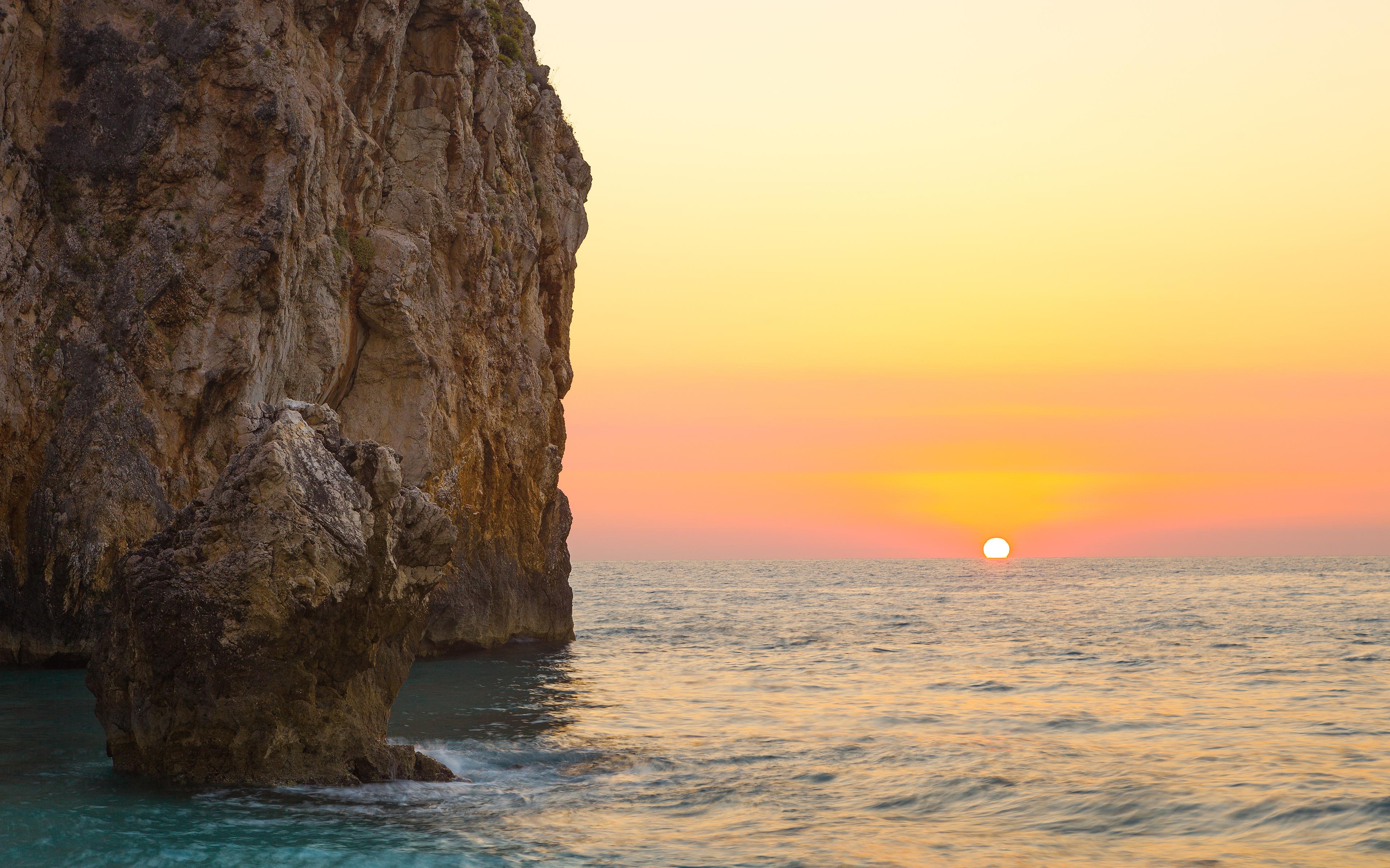 скала море солнце  № 673131  скачать