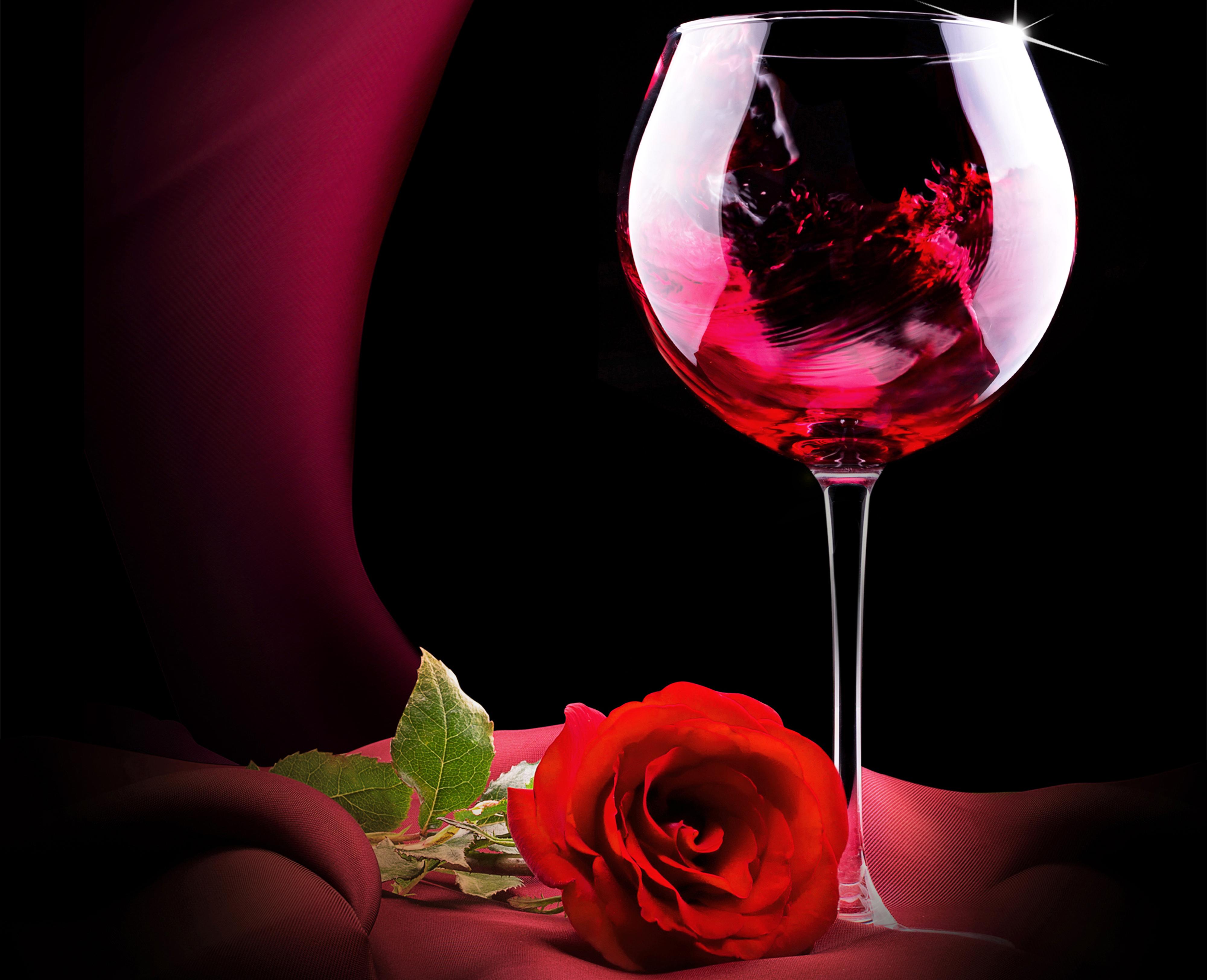 Два бокала с розами  № 750313 без смс