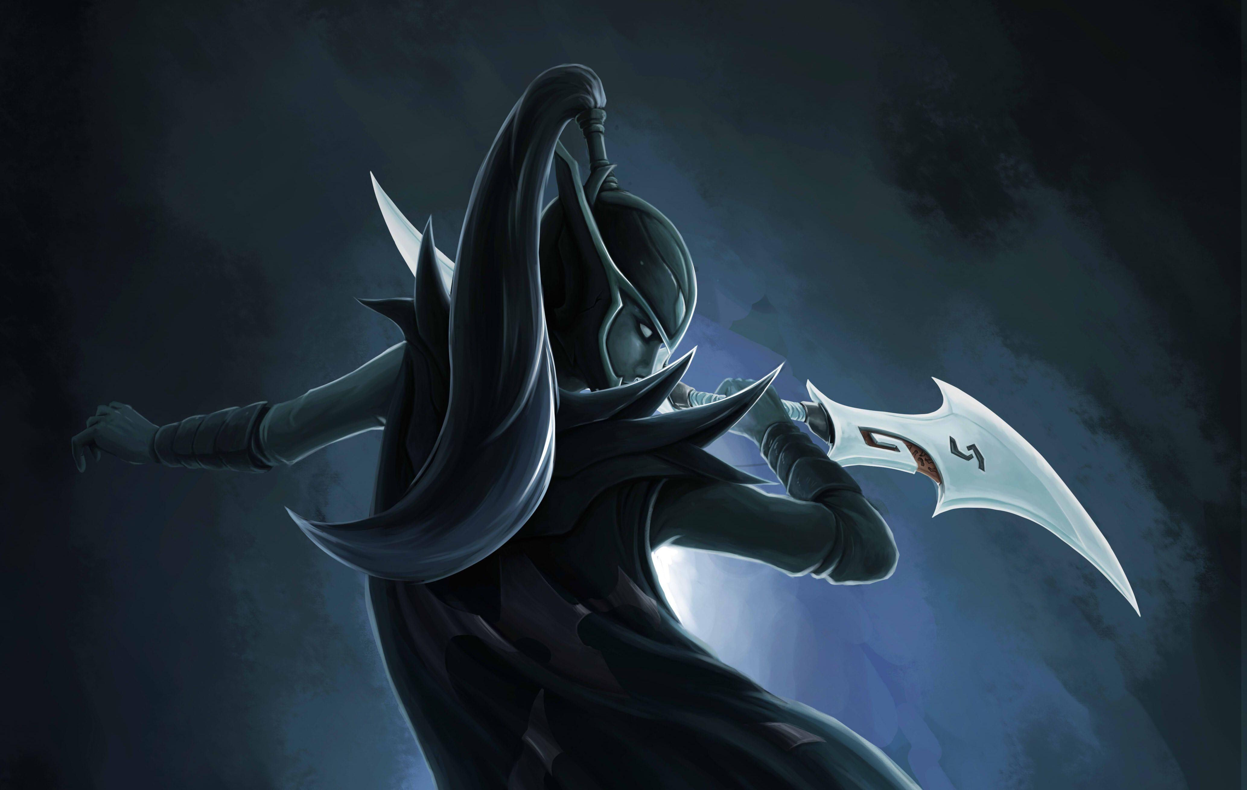 Download Wallpaper Girl Weapons Art Blade Dota 2 Phantom