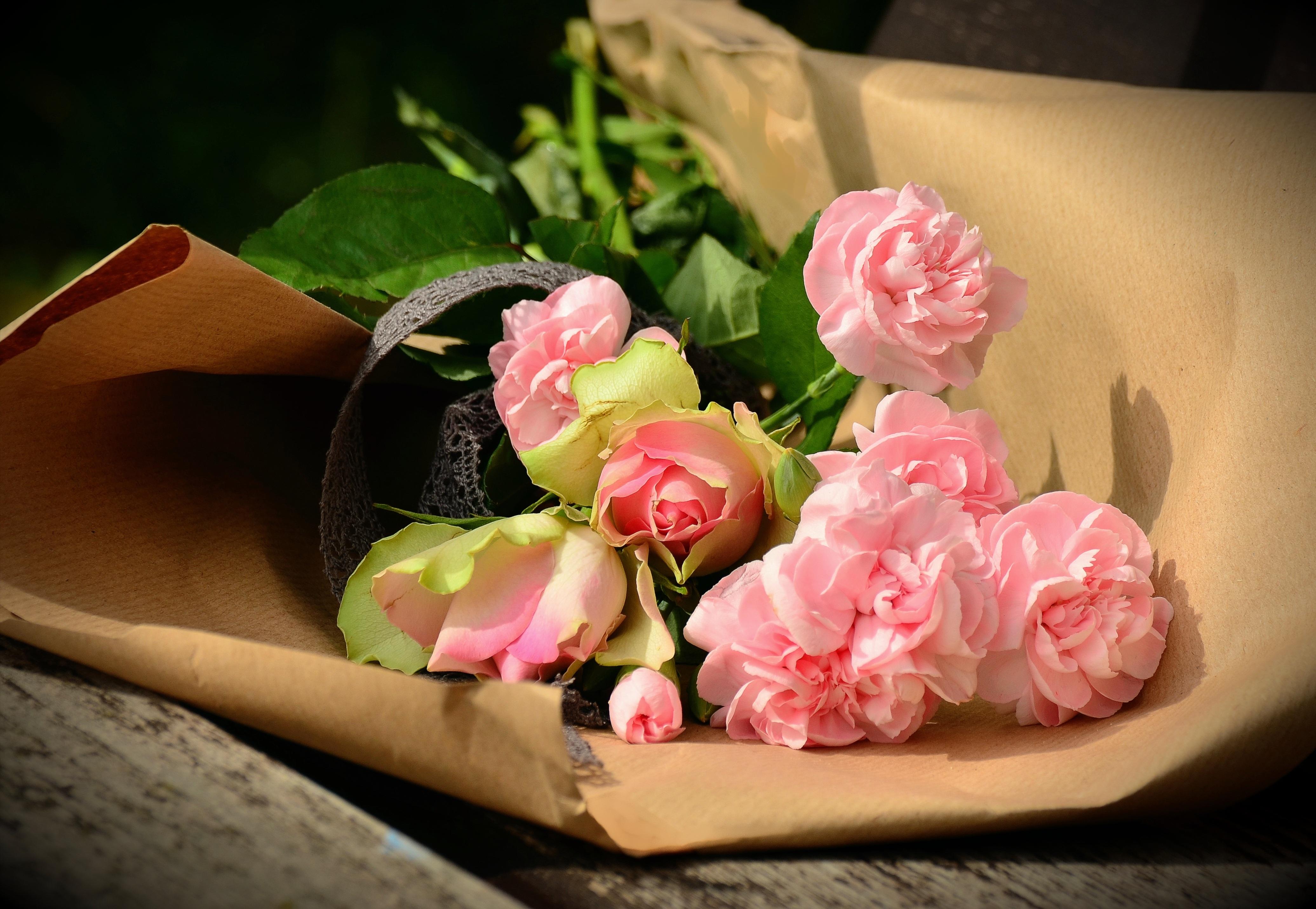 розы,упаковка,букет,праздник  № 759906 без смс