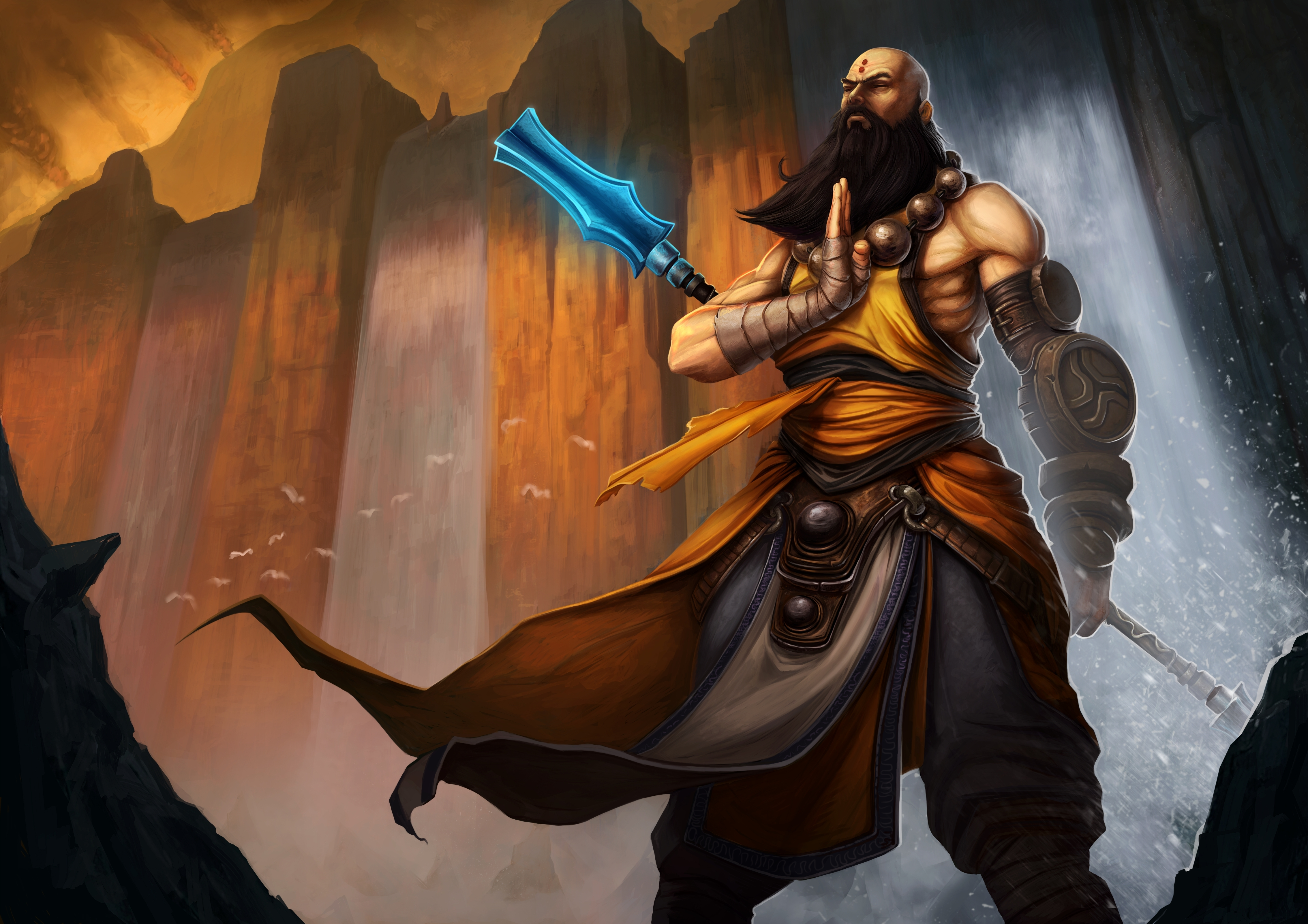 Diablo 3 nude monk hentai image