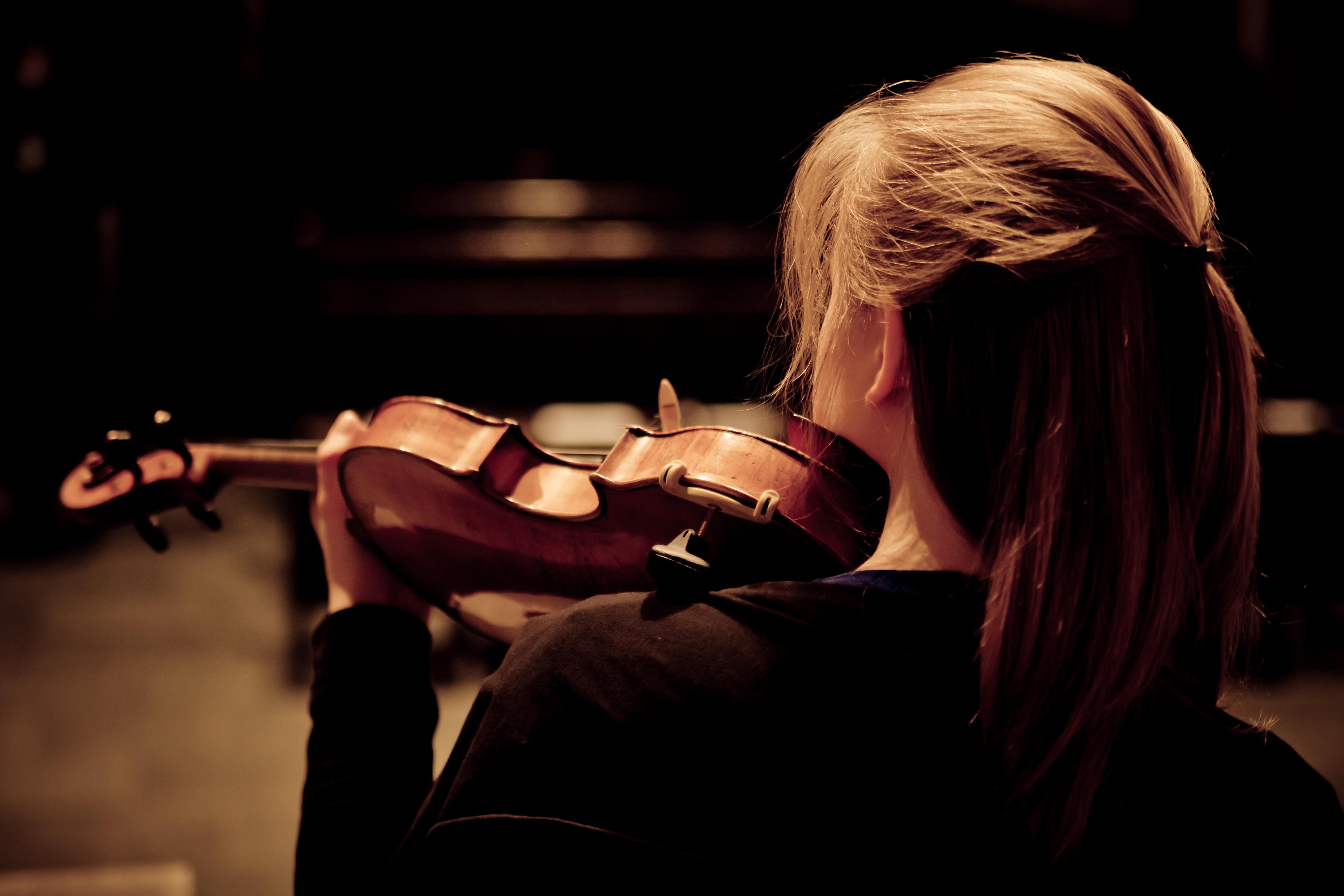 Девушка скрипка  № 707594 загрузить