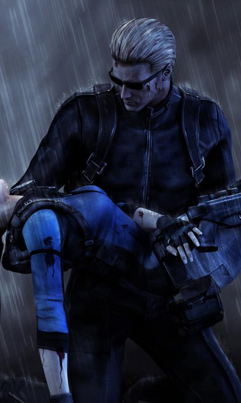 Download Wallpaper Rain Fanart Jill Valentine Resident Evil 5