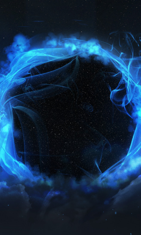 Download wallpaper Star, blue, Sci Fi, black hole, section ...