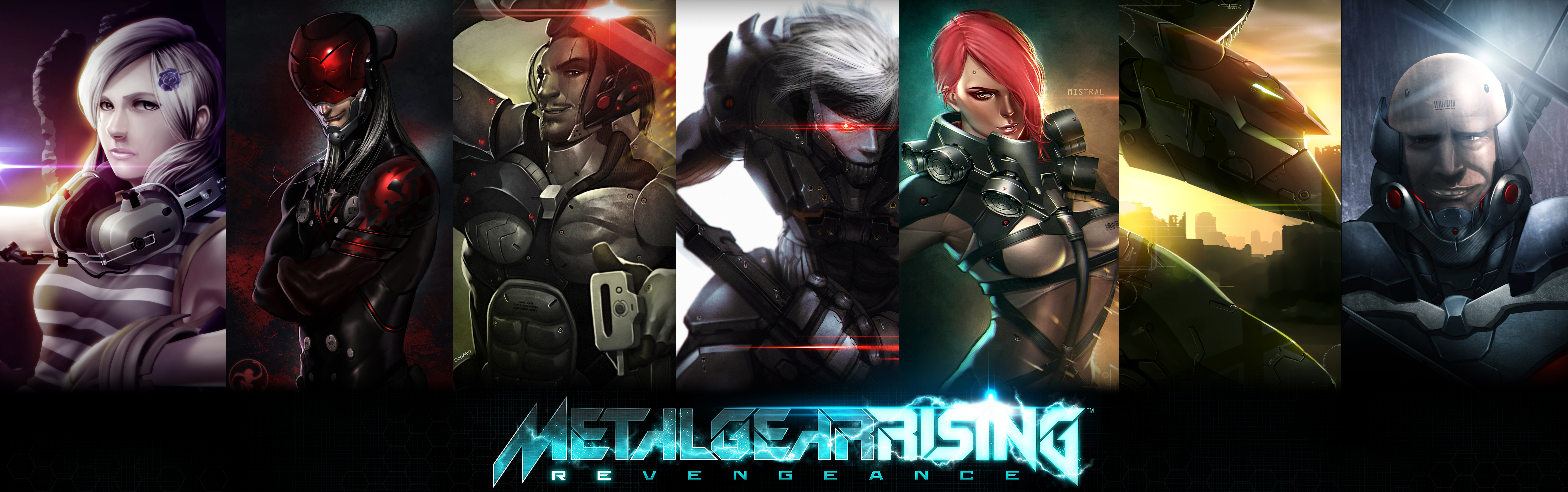 Download Wallpaper Art Sam Raiden Metal Gear Rising Revengeance
