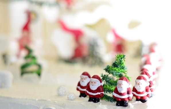 Picture Christmas, bokeh, Santa Claus