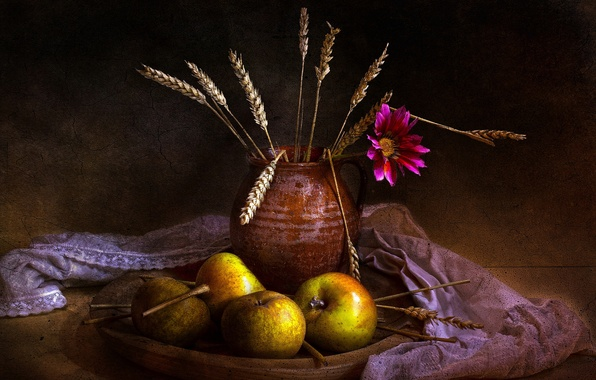 Picture style, retro, fruit, still life