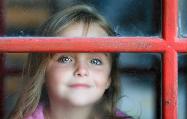Picture mood, window, girl